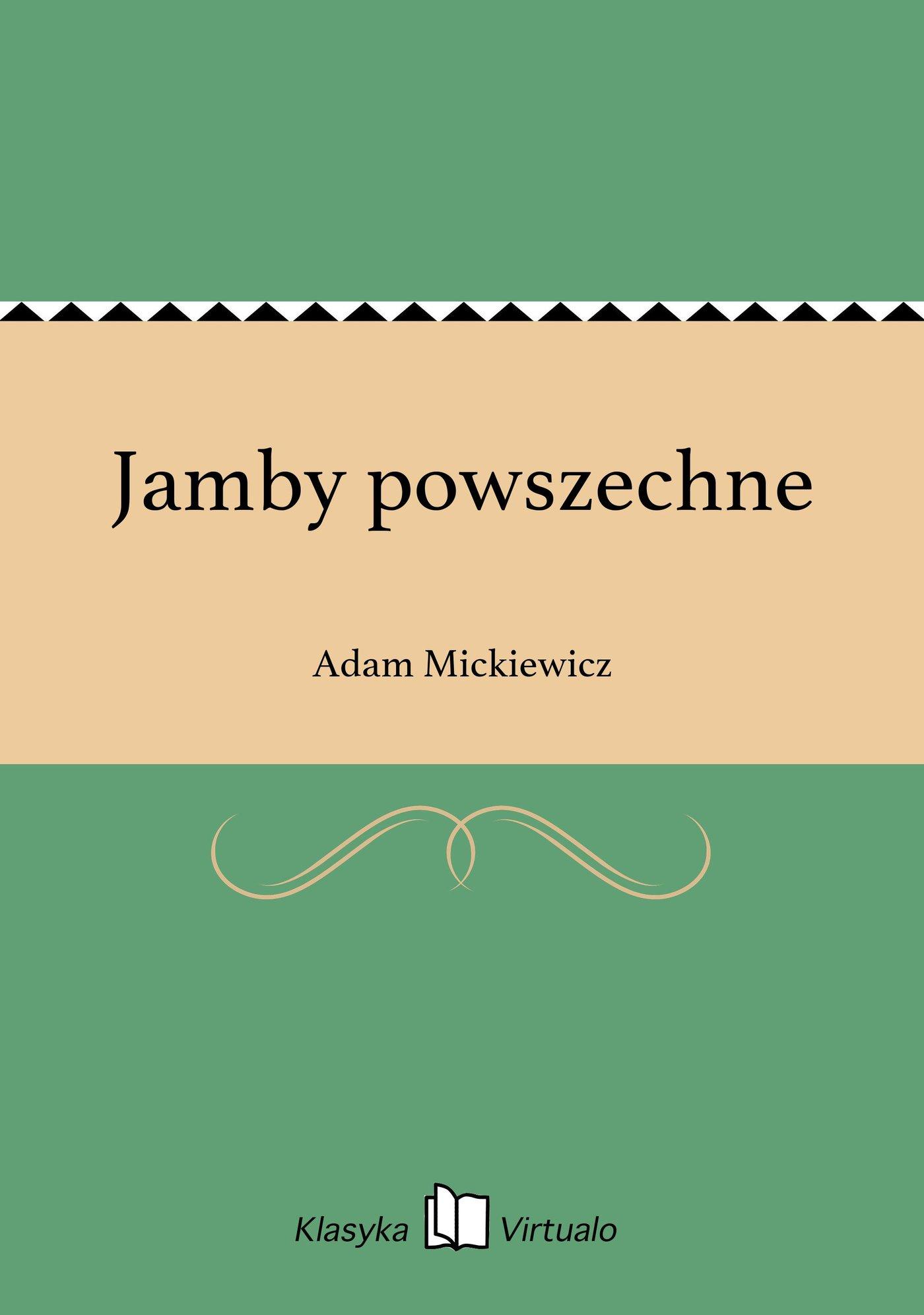 Jamby powszechne - Ebook (Książka EPUB) do pobrania w formacie EPUB