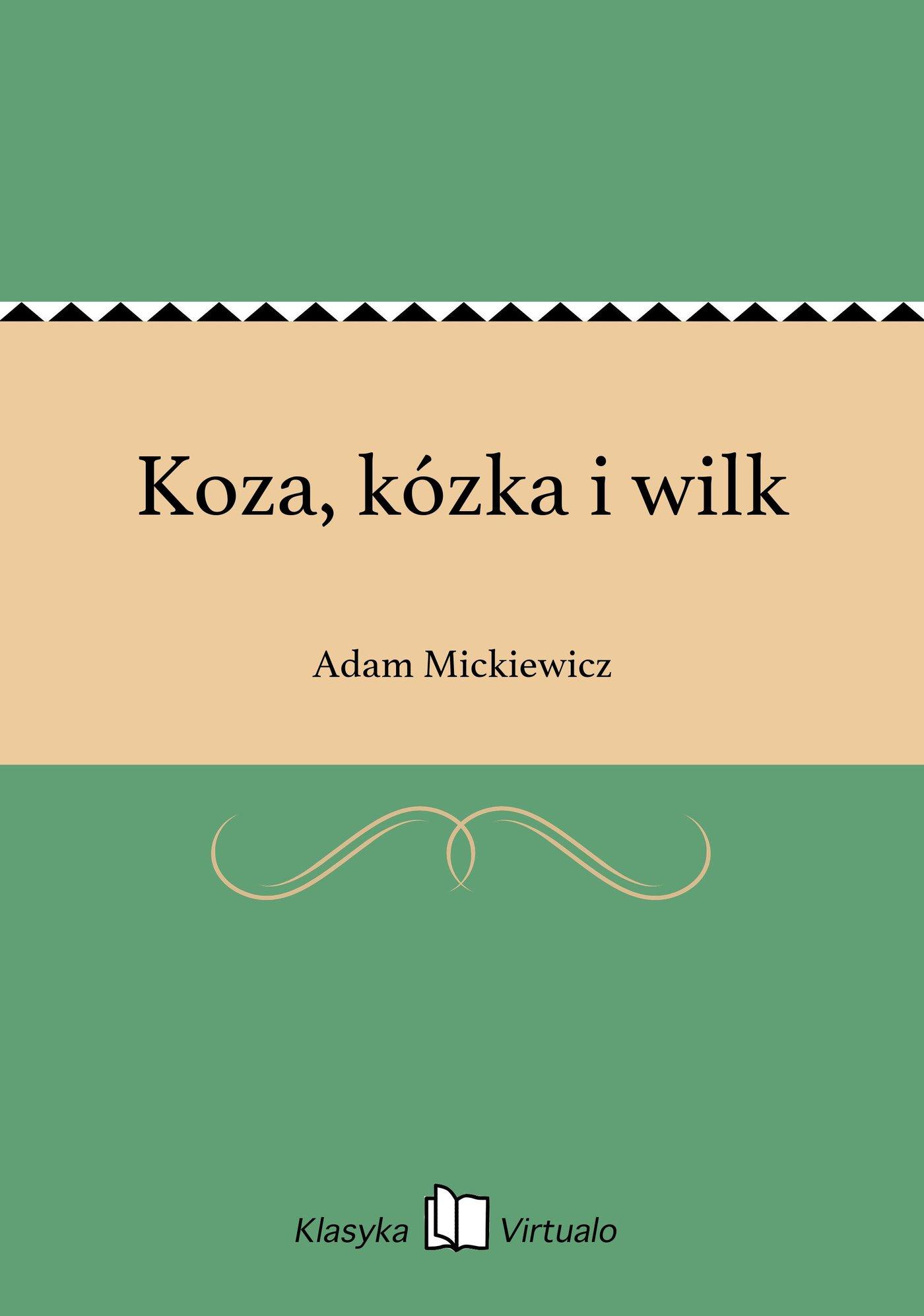 Koza, kózka i wilk - Ebook (Książka EPUB) do pobrania w formacie EPUB