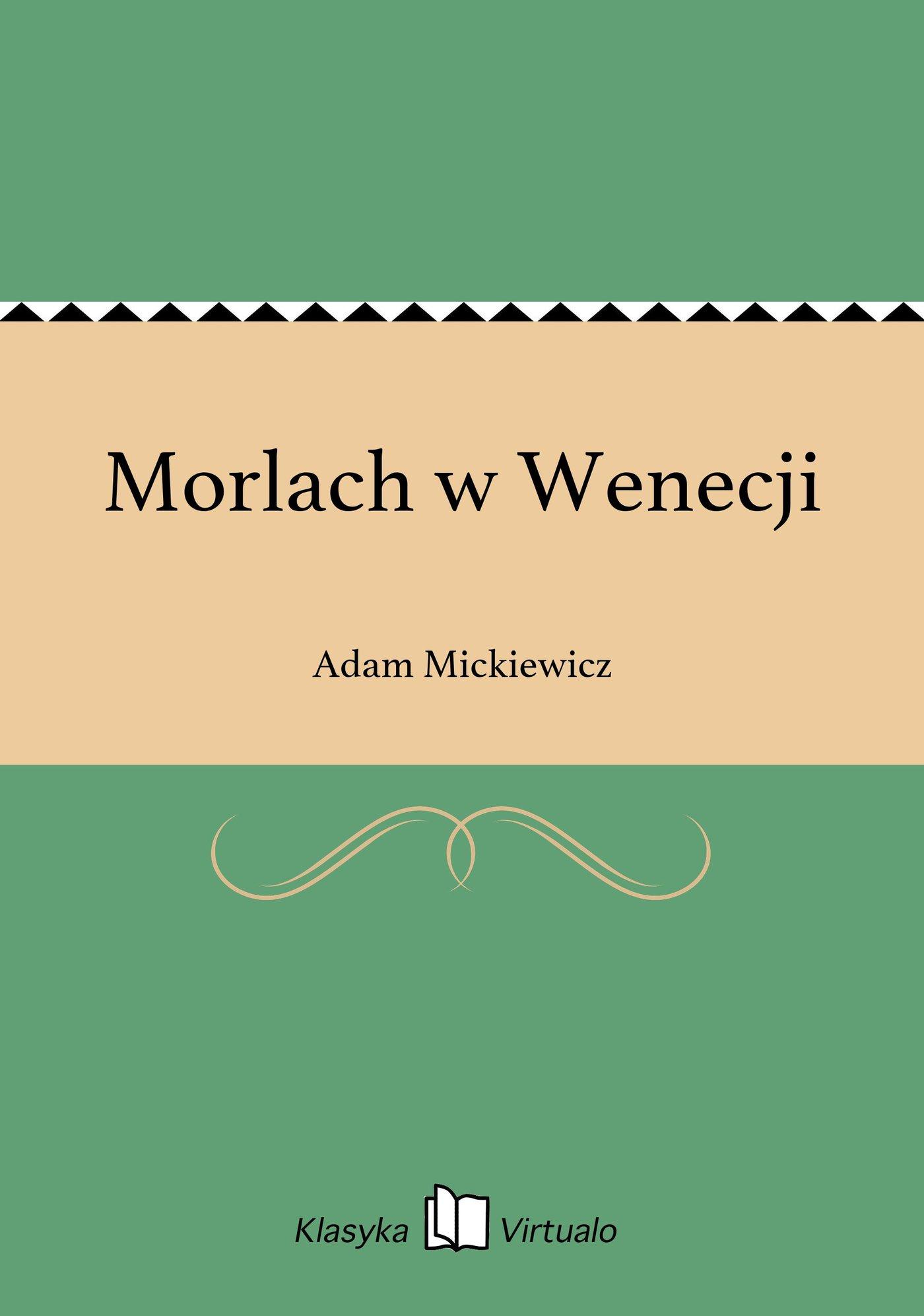 Morlach w Wenecji - Ebook (Książka EPUB) do pobrania w formacie EPUB