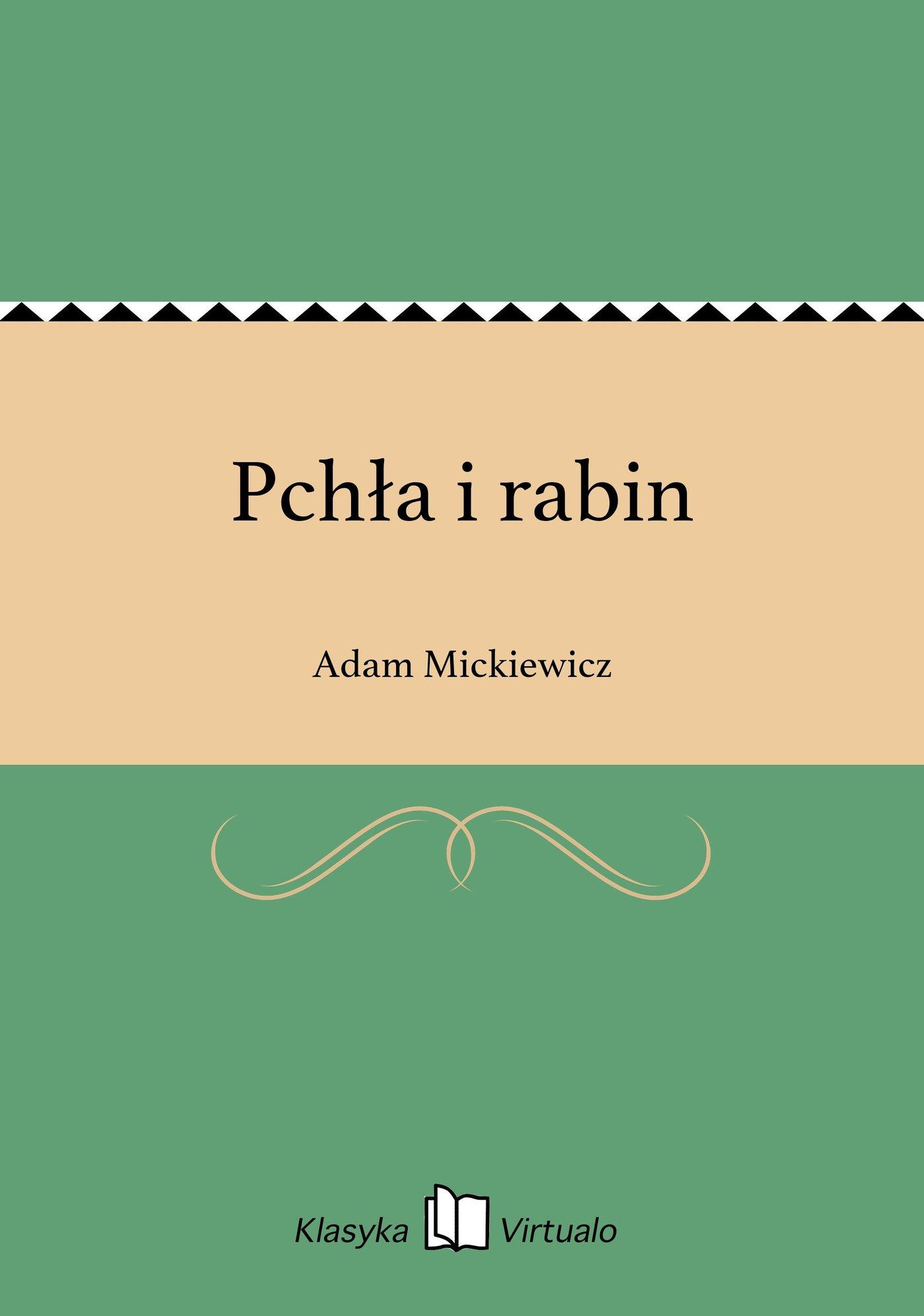 Pchła i rabin - Ebook (Książka EPUB) do pobrania w formacie EPUB
