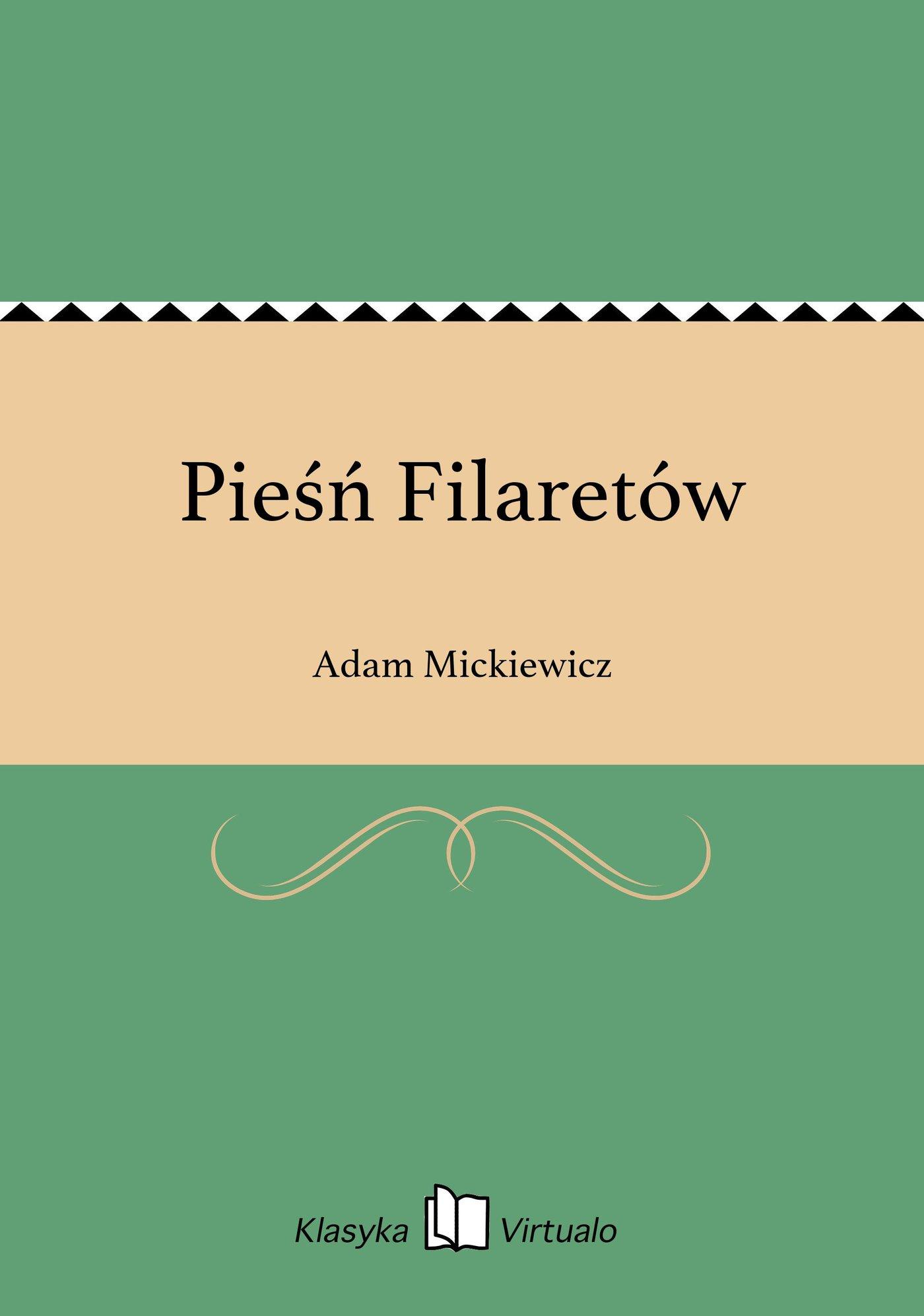 Pieśń Filaretów - Ebook (Książka EPUB) do pobrania w formacie EPUB