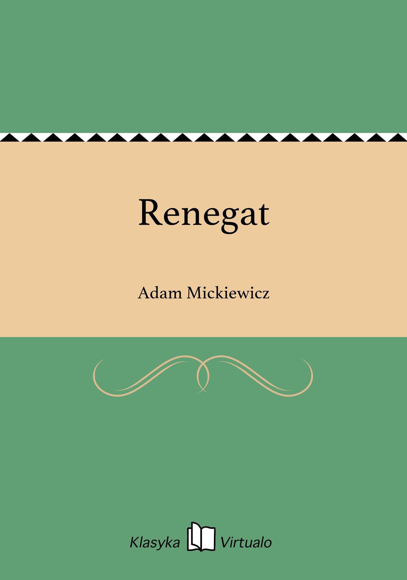 Renegat - Ebook (Książka EPUB) do pobrania w formacie EPUB