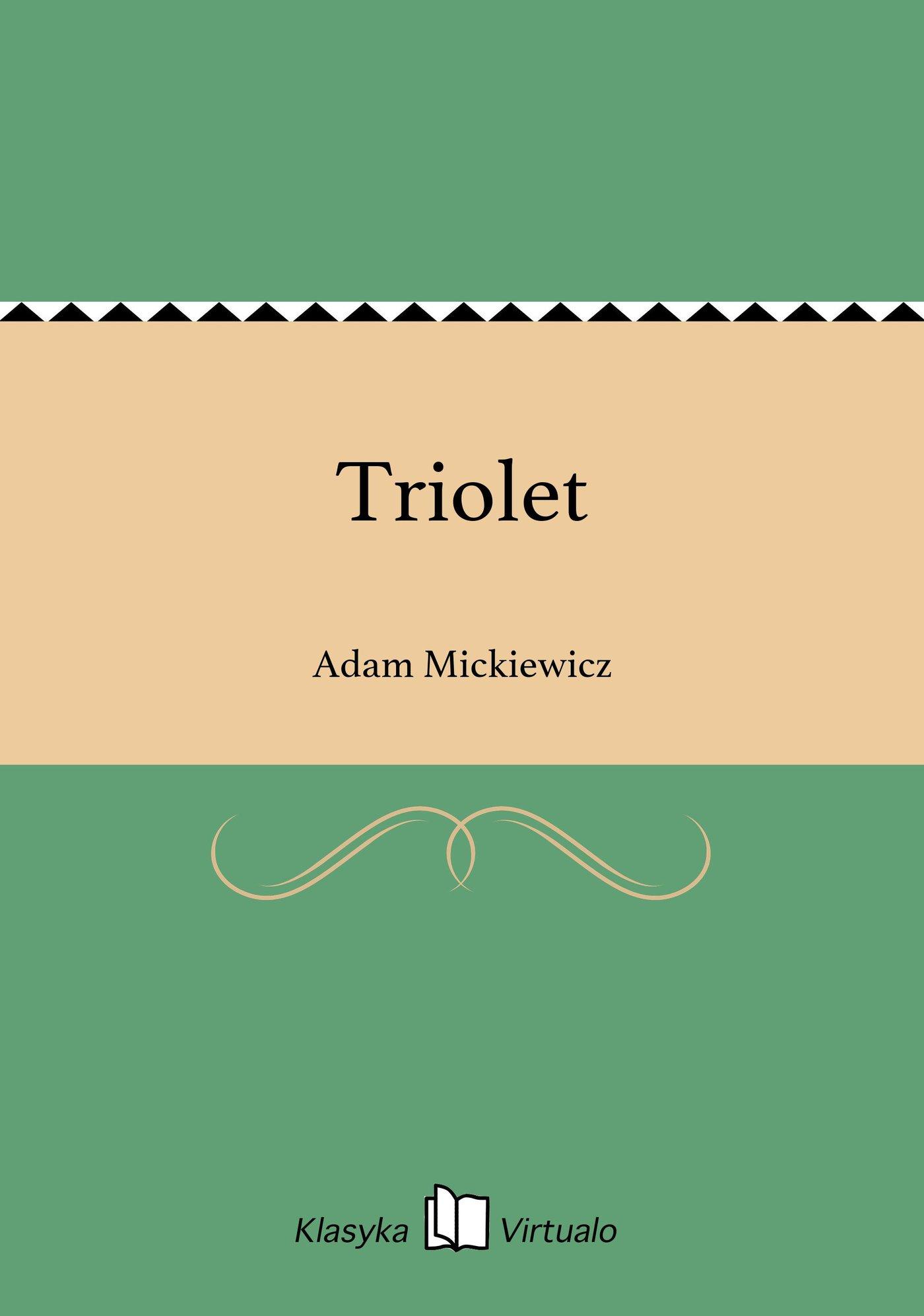 Triolet - Ebook (Książka EPUB) do pobrania w formacie EPUB