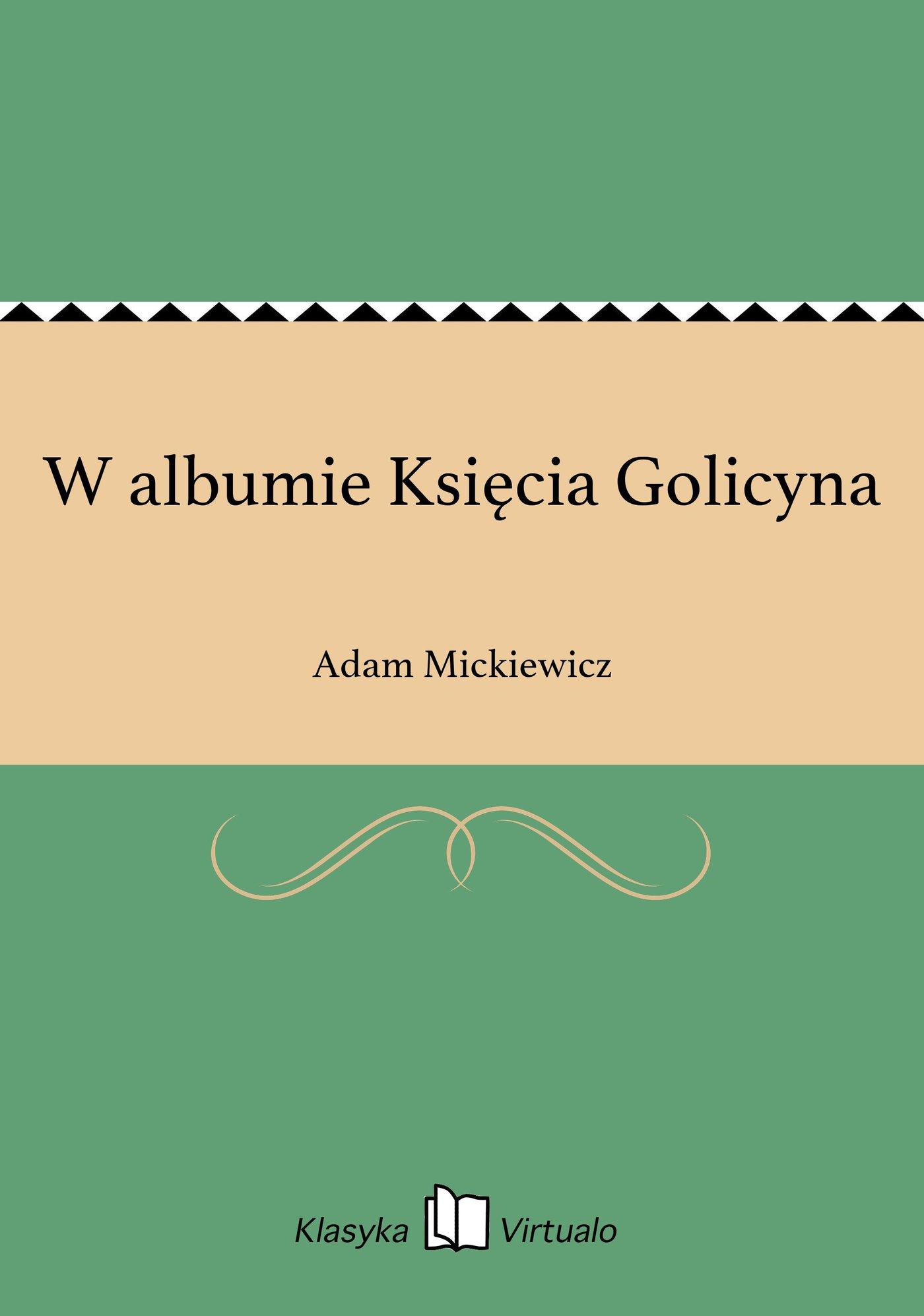 W albumie Księcia Golicyna - Ebook (Książka EPUB) do pobrania w formacie EPUB