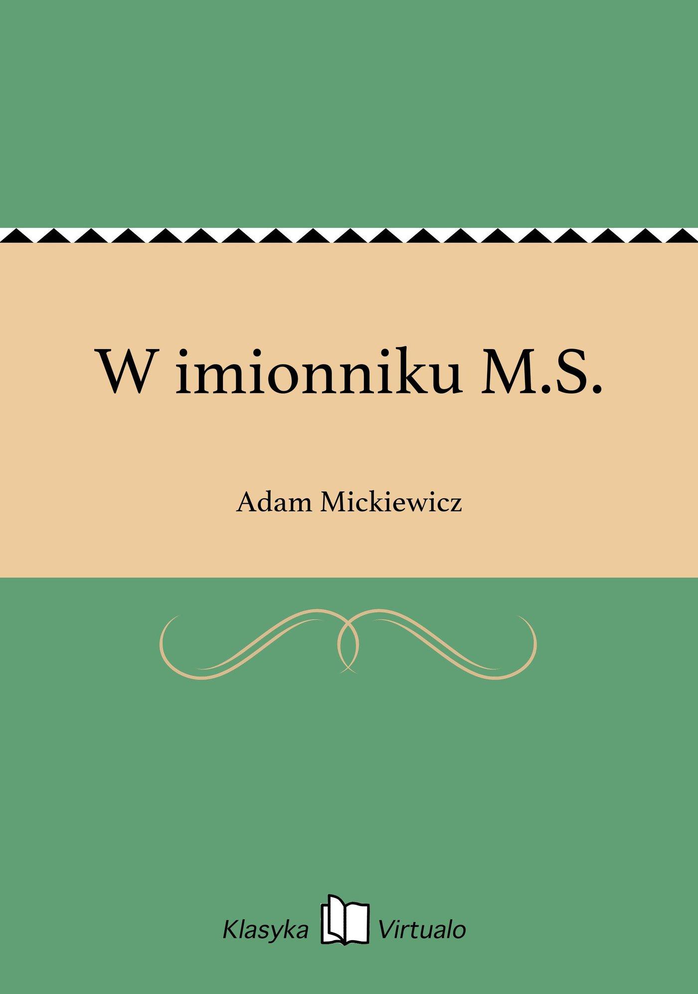 W imionniku M.S. - Ebook (Książka EPUB) do pobrania w formacie EPUB