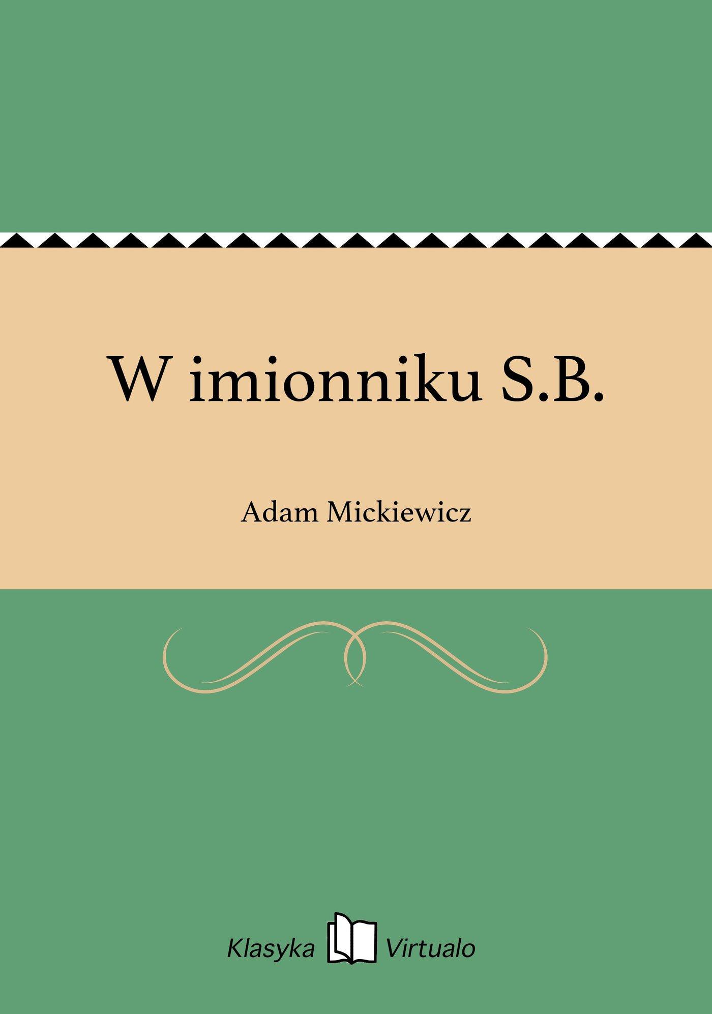 W imionniku S.B. - Ebook (Książka EPUB) do pobrania w formacie EPUB