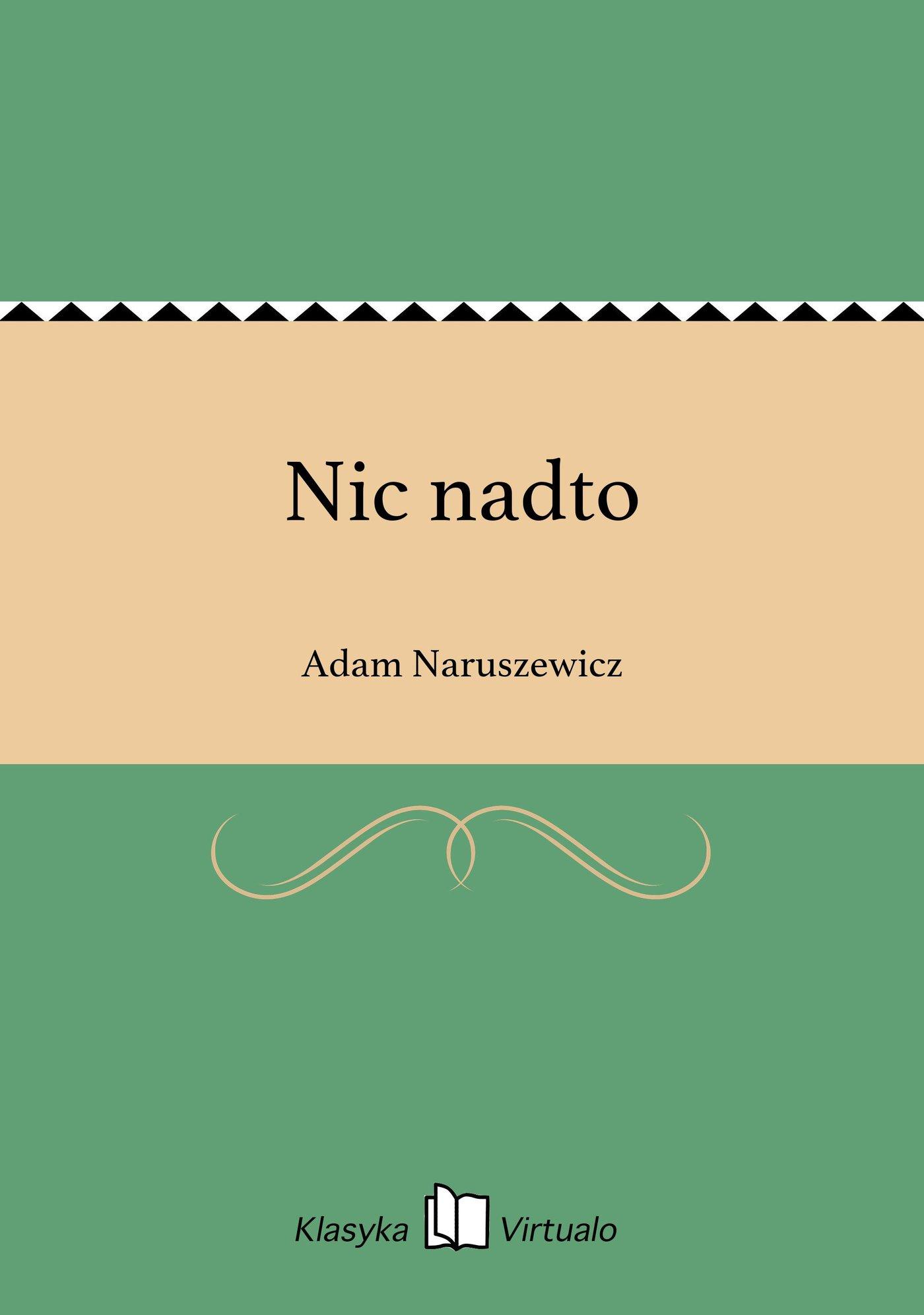 Nic nadto - Ebook (Książka EPUB) do pobrania w formacie EPUB