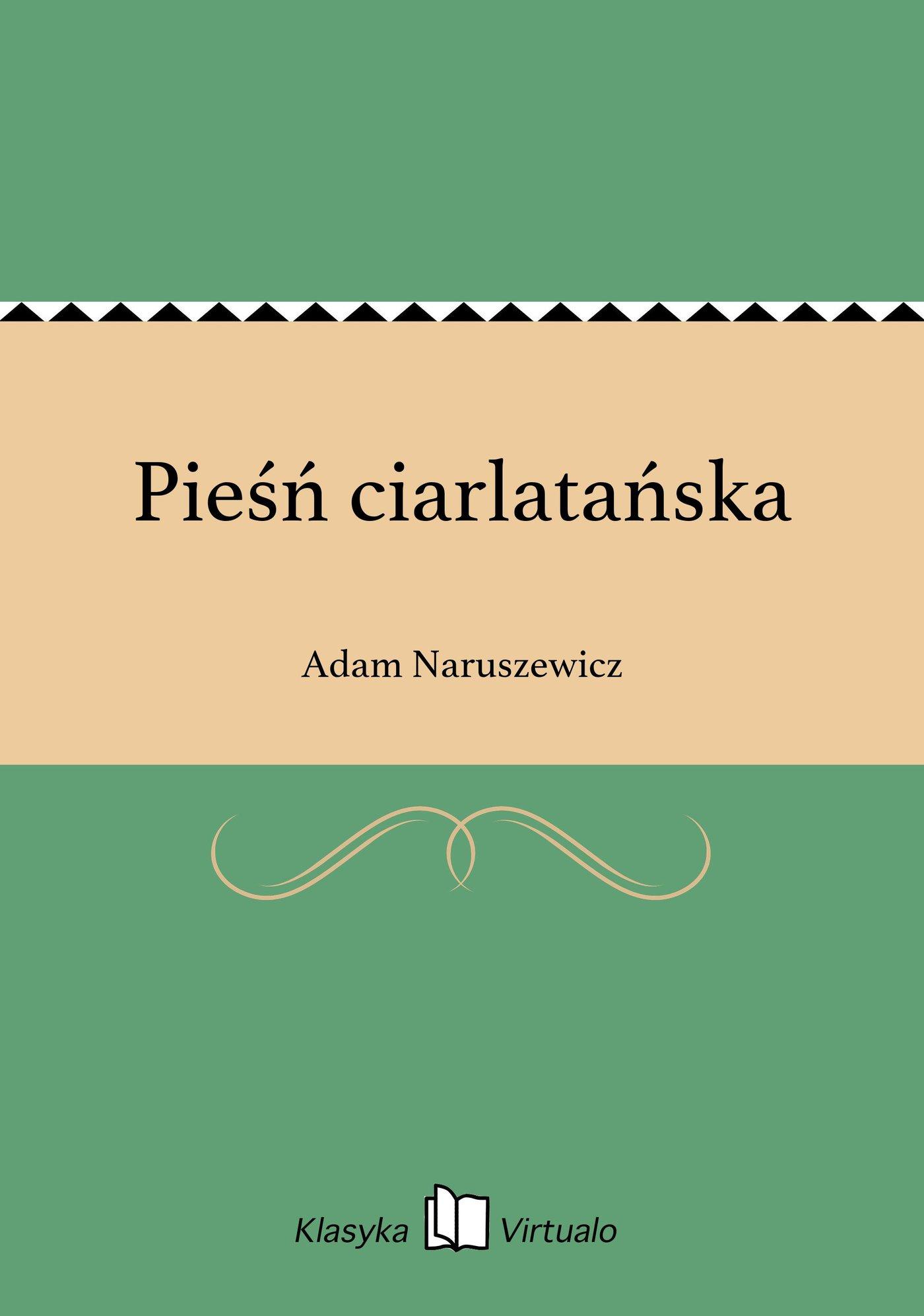Pieśń ciarlatańska - Ebook (Książka EPUB) do pobrania w formacie EPUB