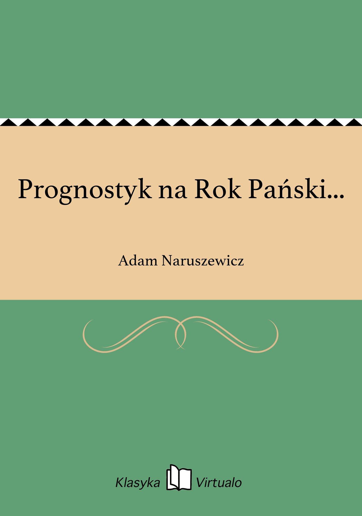 Prognostyk na Rok Pański... - Ebook (Książka EPUB) do pobrania w formacie EPUB