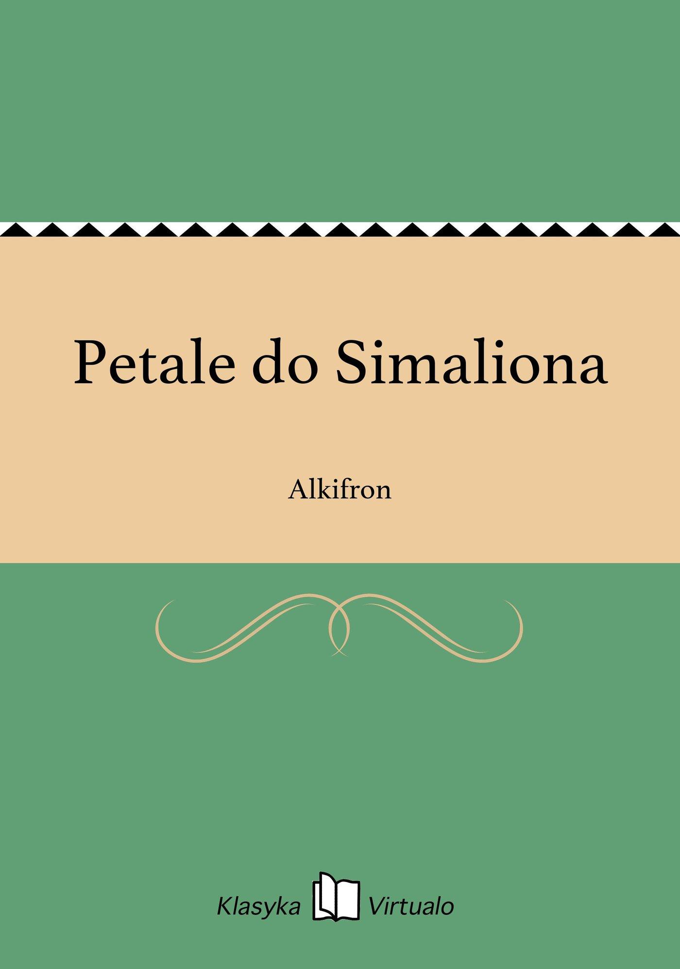 Petale do Simaliona - Ebook (Książka EPUB) do pobrania w formacie EPUB