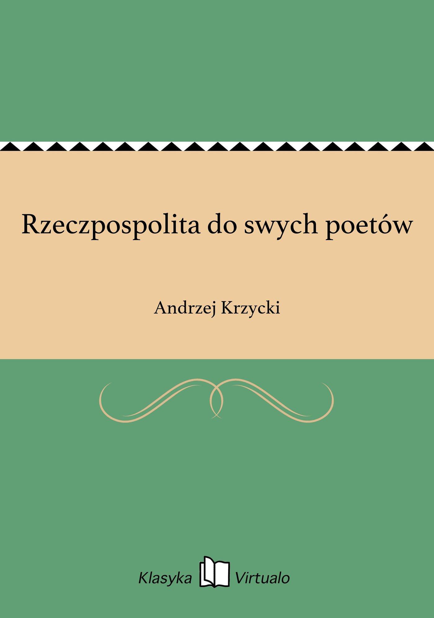 Rzeczpospolita do swych poetów - Ebook (Książka EPUB) do pobrania w formacie EPUB