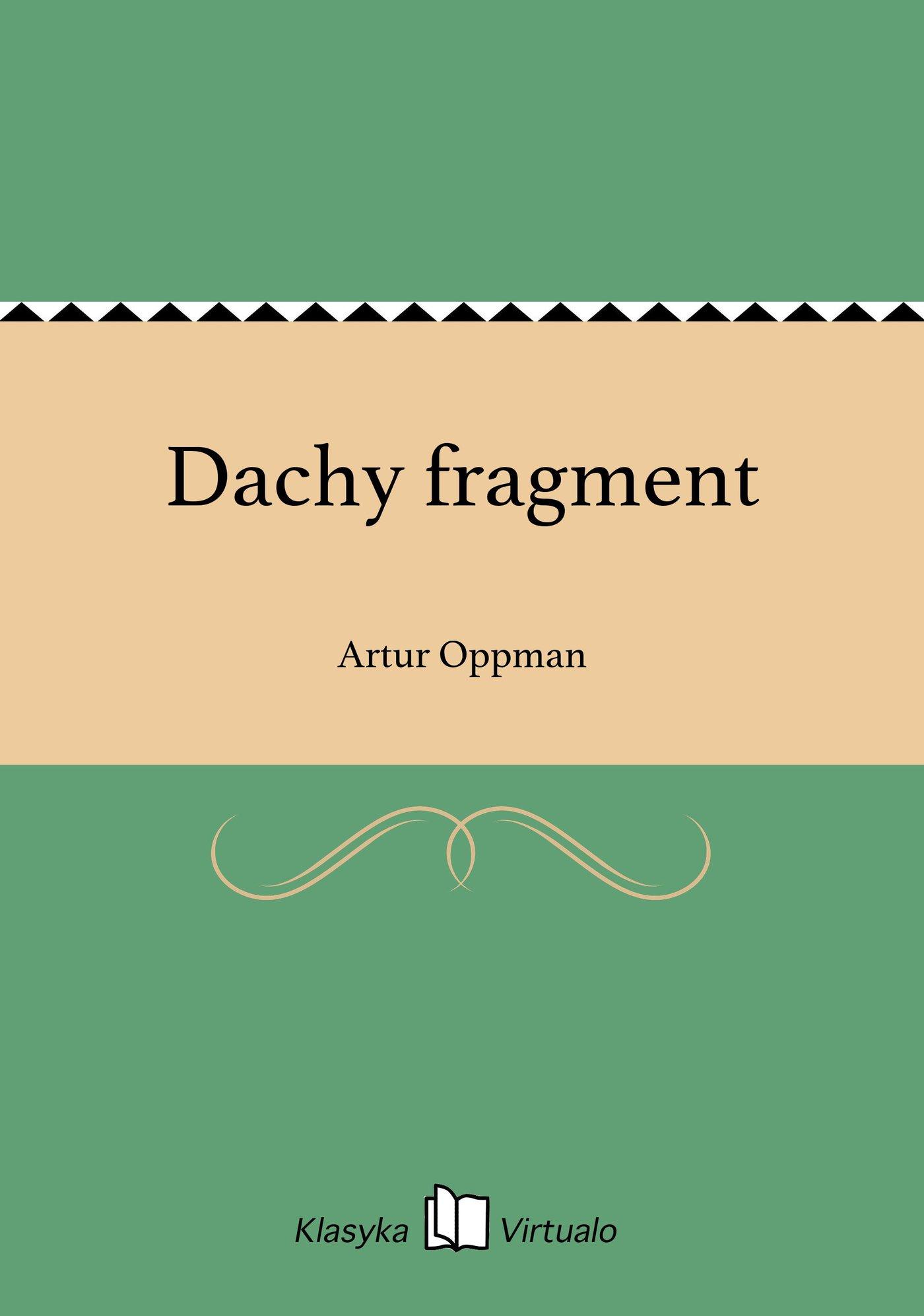 Dachy fragment - Ebook (Książka EPUB) do pobrania w formacie EPUB