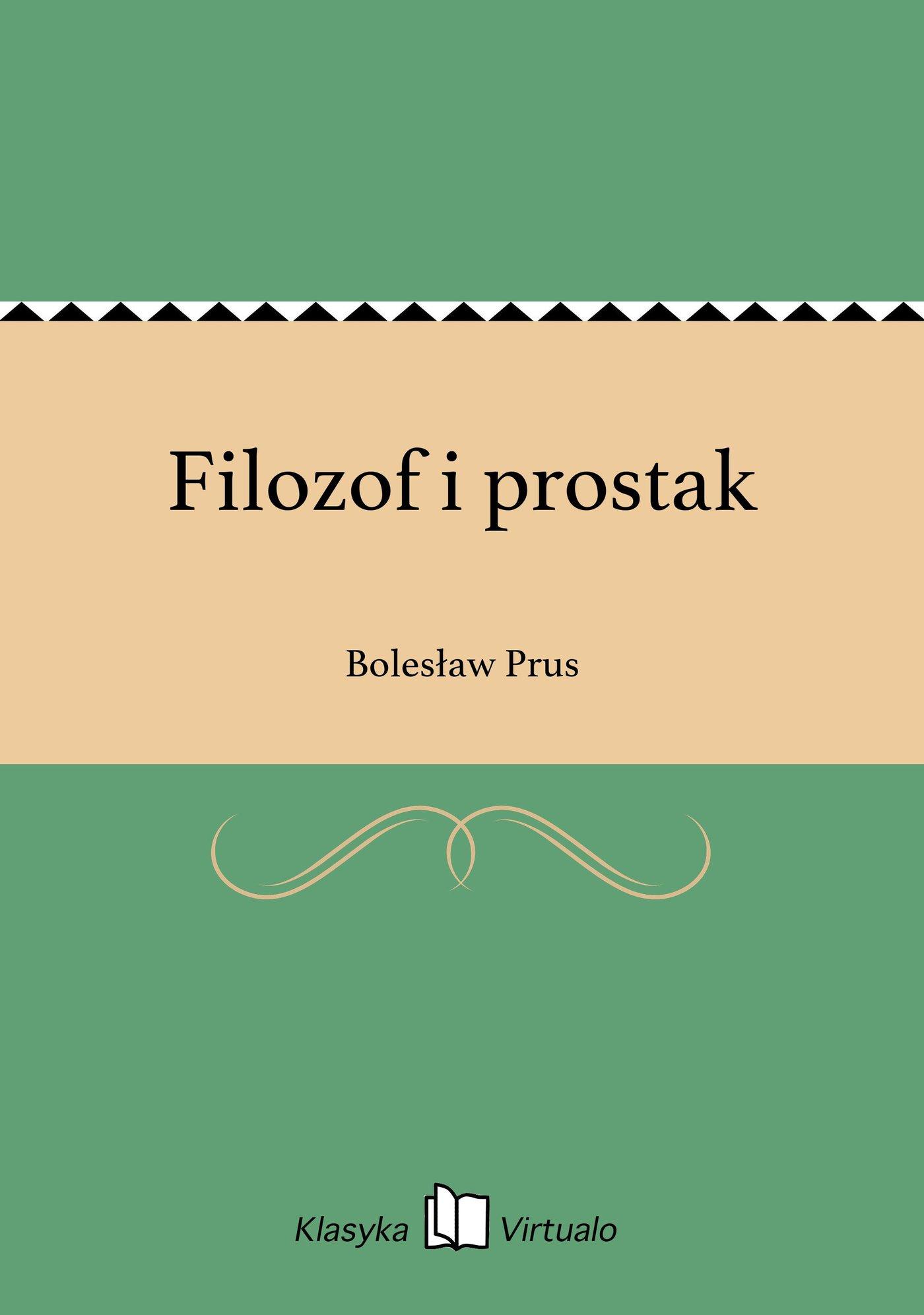 Filozof i prostak - Ebook (Książka EPUB) do pobrania w formacie EPUB