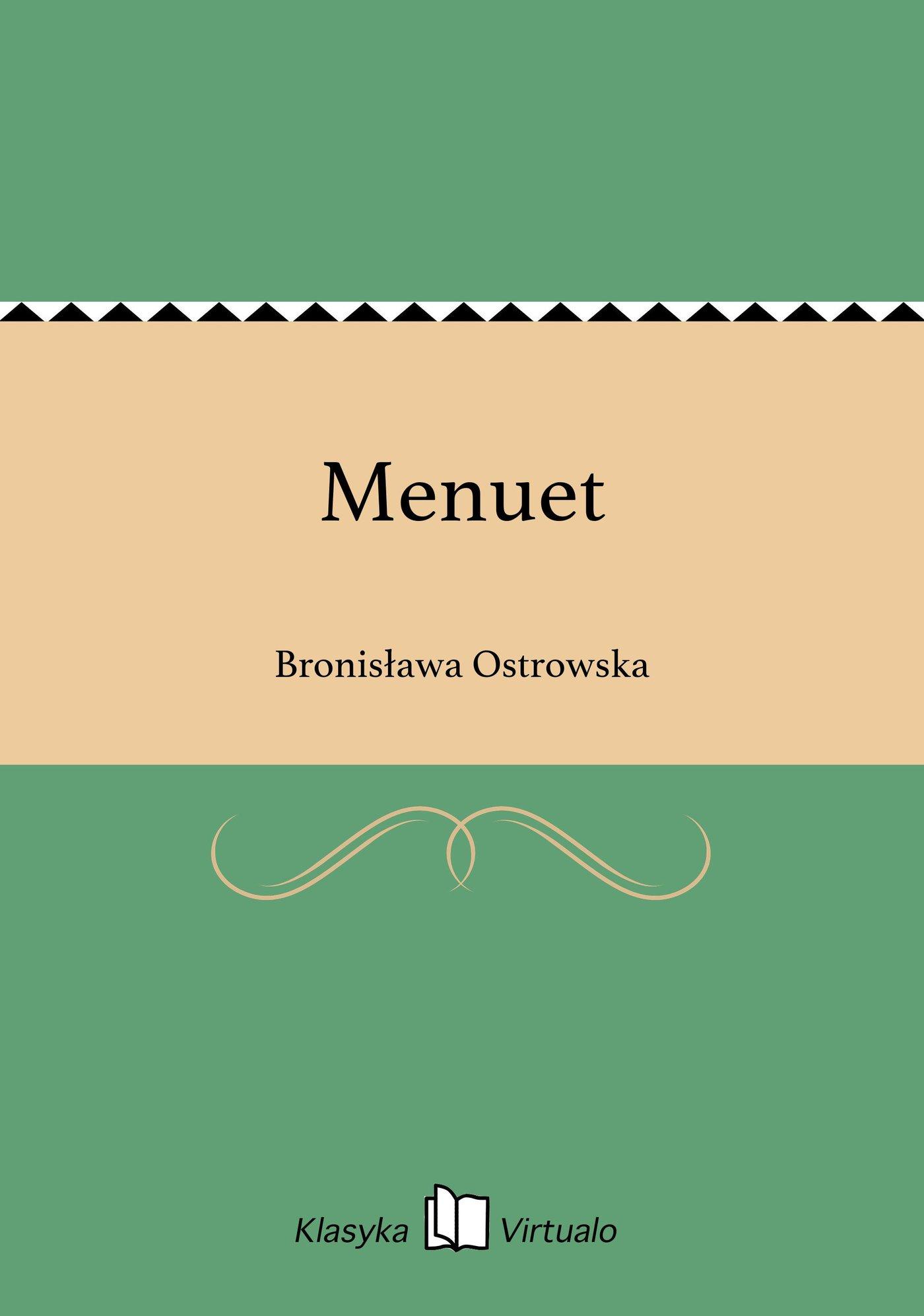 Menuet - Ebook (Książka EPUB) do pobrania w formacie EPUB