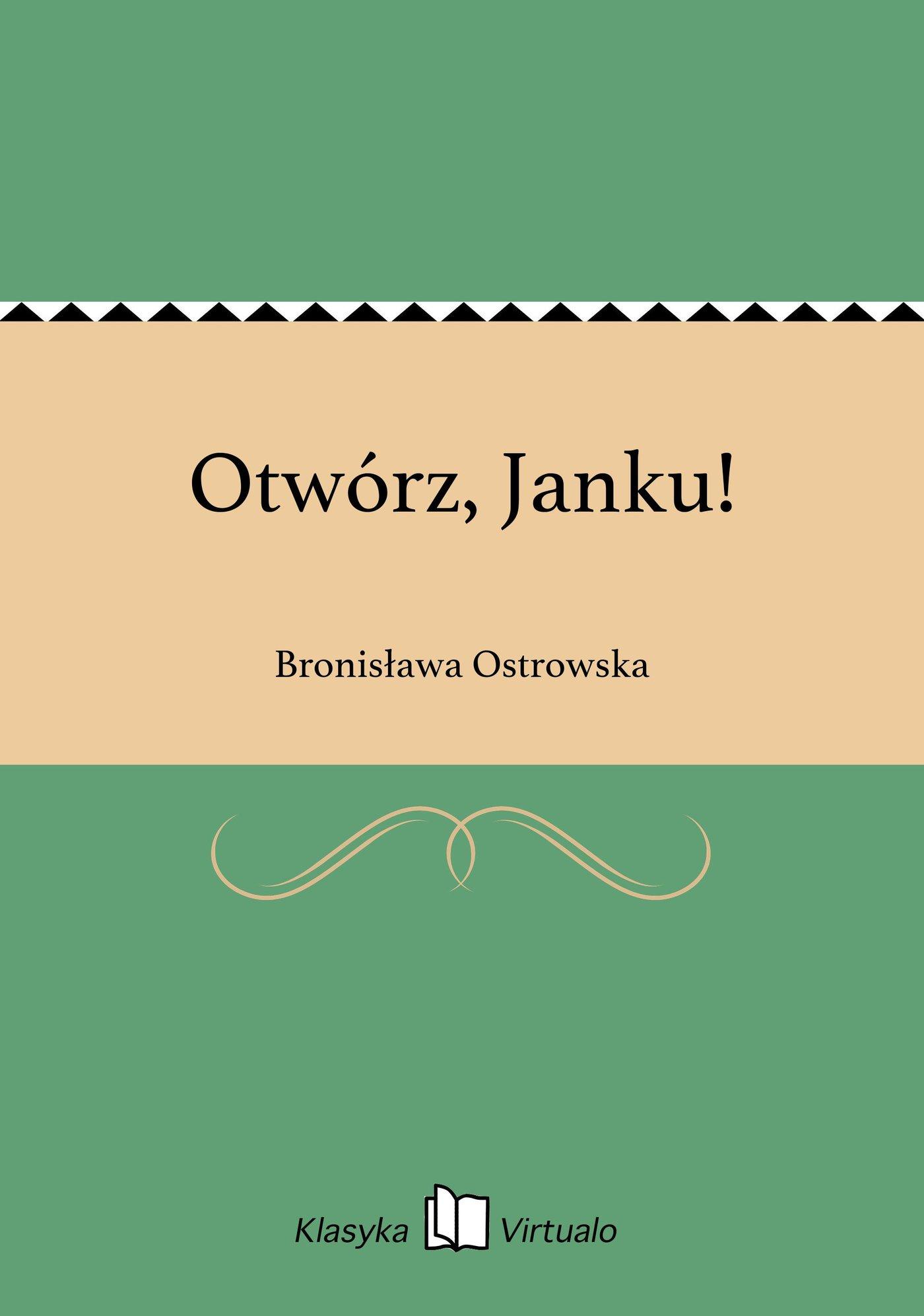 Otwórz, Janku! - Ebook (Książka EPUB) do pobrania w formacie EPUB