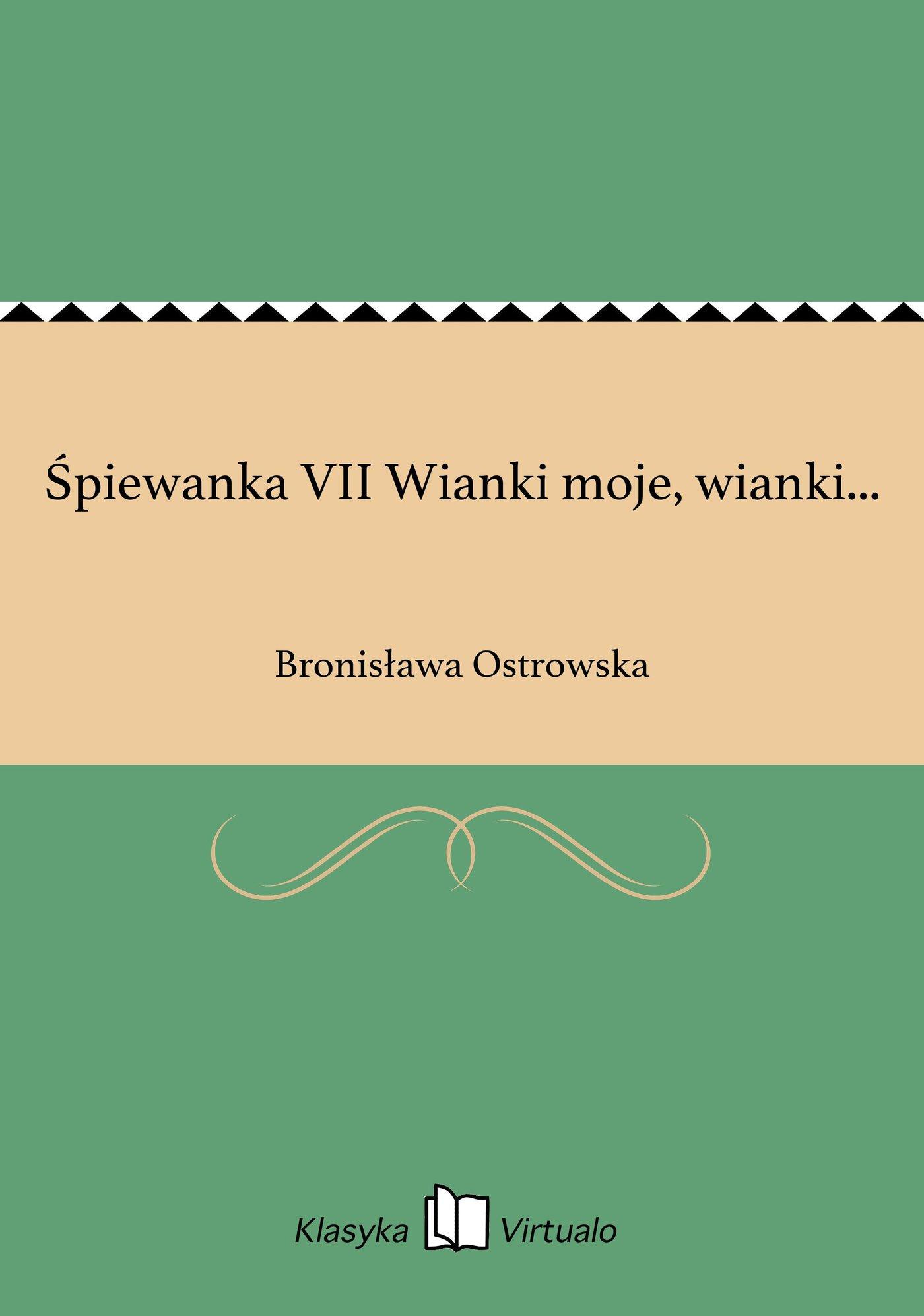 Śpiewanka VII Wianki moje, wianki... - Ebook (Książka EPUB) do pobrania w formacie EPUB