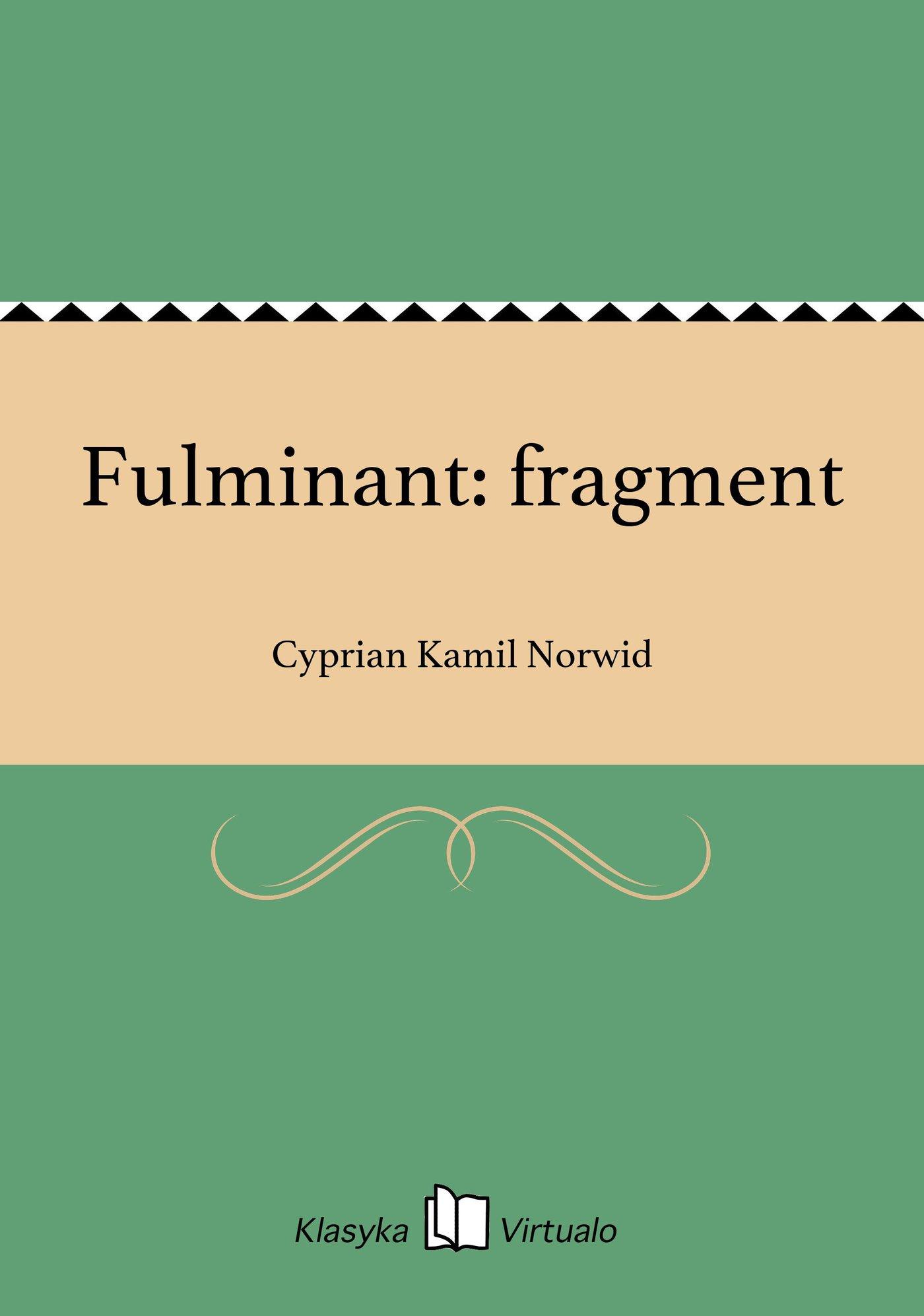 Fulminant: fragment - Ebook (Książka EPUB) do pobrania w formacie EPUB