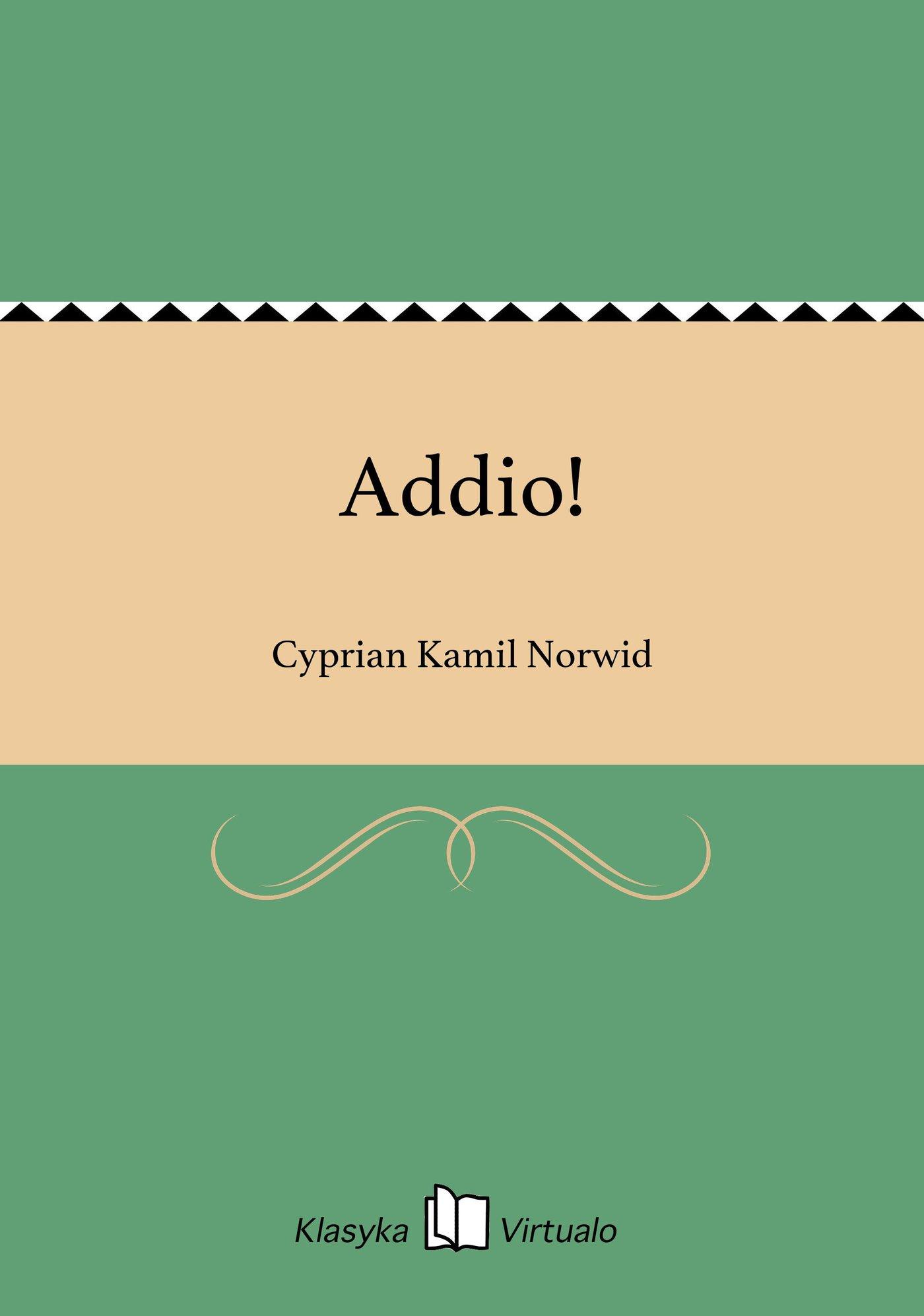 Addio! - Ebook (Książka EPUB) do pobrania w formacie EPUB