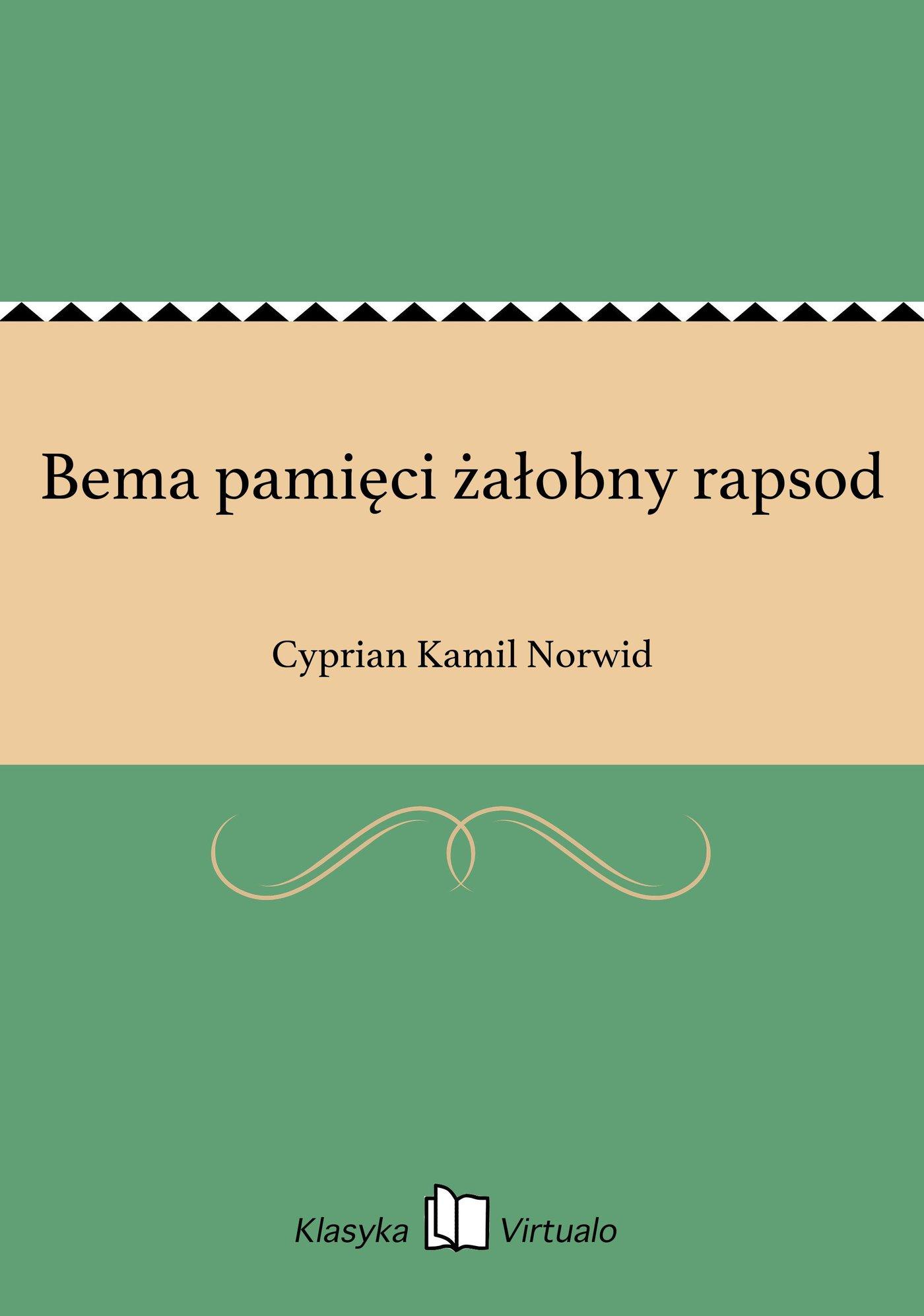 Bema pamięci żałobny rapsod - Ebook (Książka EPUB) do pobrania w formacie EPUB