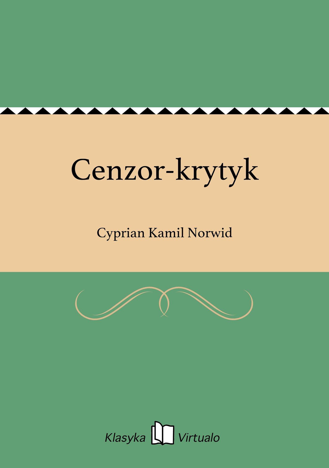 Cenzor-krytyk - Ebook (Książka EPUB) do pobrania w formacie EPUB