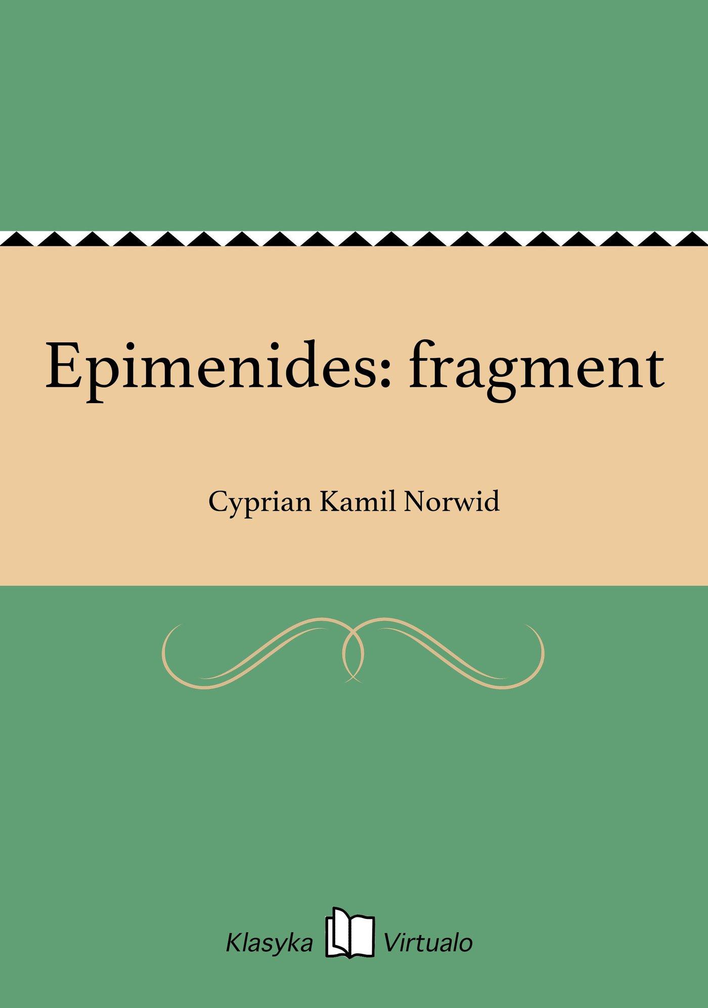 Epimenides: fragment - Ebook (Książka EPUB) do pobrania w formacie EPUB