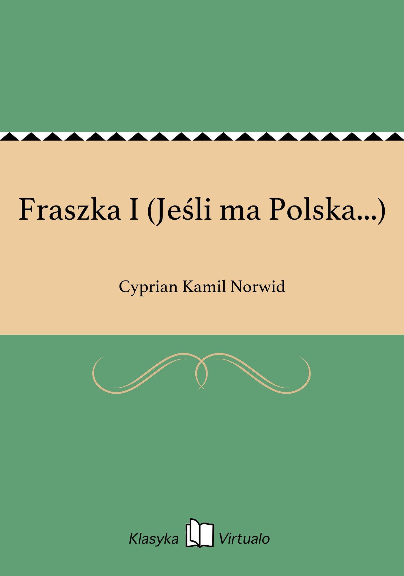Fraszka I (Jeśli ma Polska...) - Ebook (Książka EPUB) do pobrania w formacie EPUB