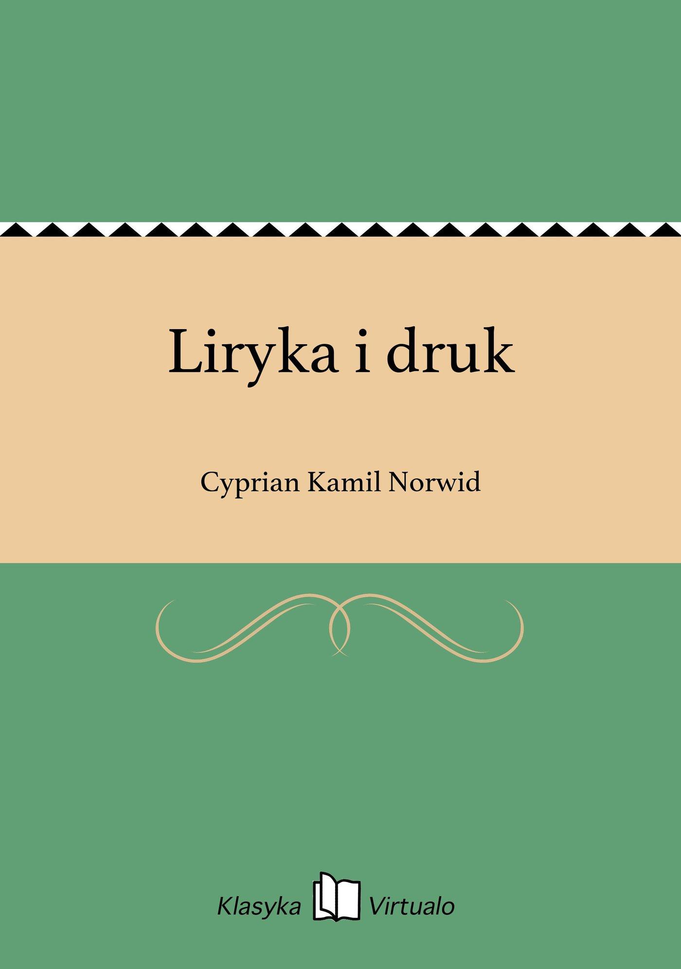 Liryka i druk - Ebook (Książka EPUB) do pobrania w formacie EPUB