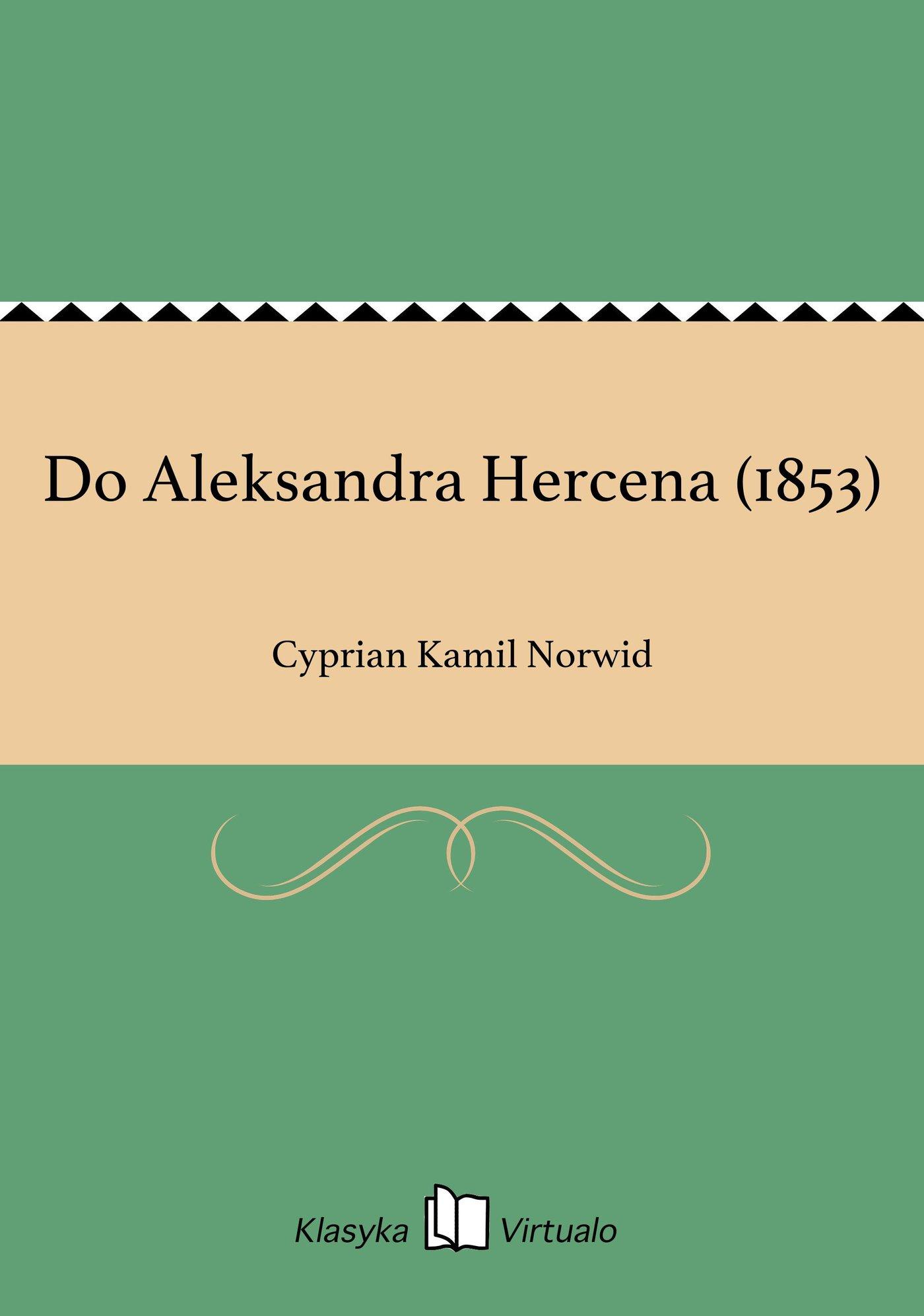 Do Aleksandra Hercena (1853) - Ebook (Książka EPUB) do pobrania w formacie EPUB