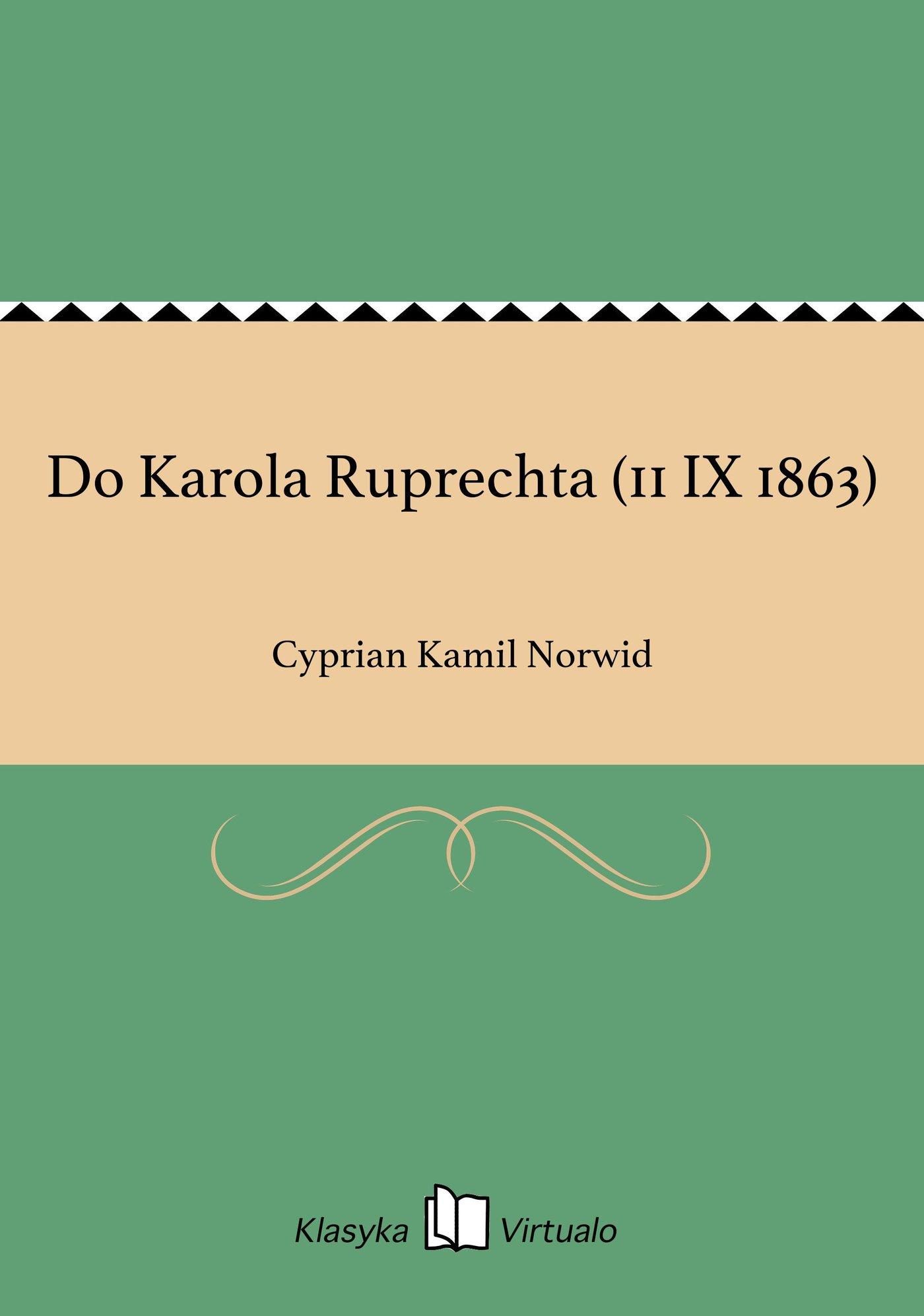 Do Karola Ruprechta (11 IX 1863) - Ebook (Książka EPUB) do pobrania w formacie EPUB