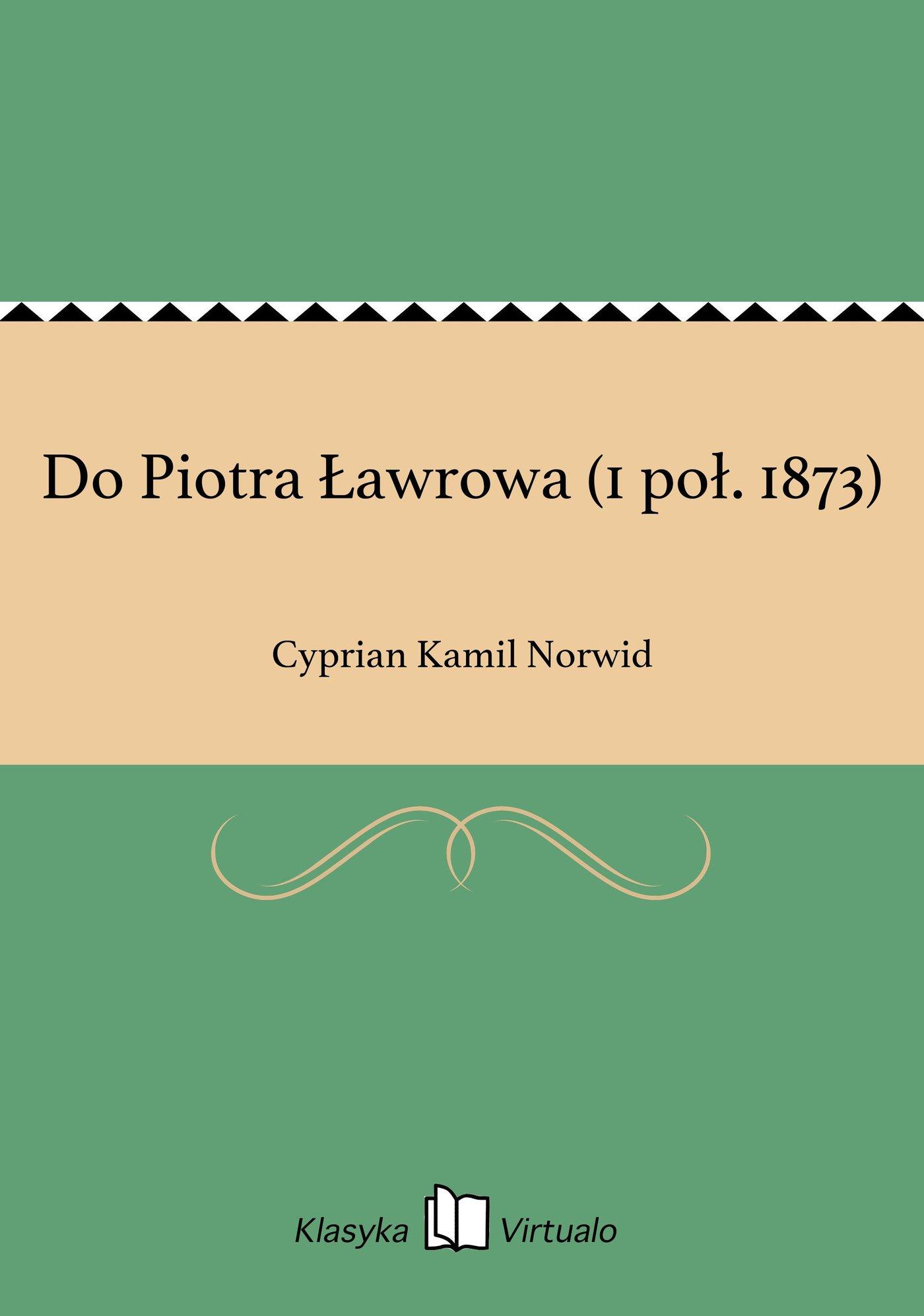 Do Piotra Ławrowa (1 poł. 1873) - Ebook (Książka EPUB) do pobrania w formacie EPUB