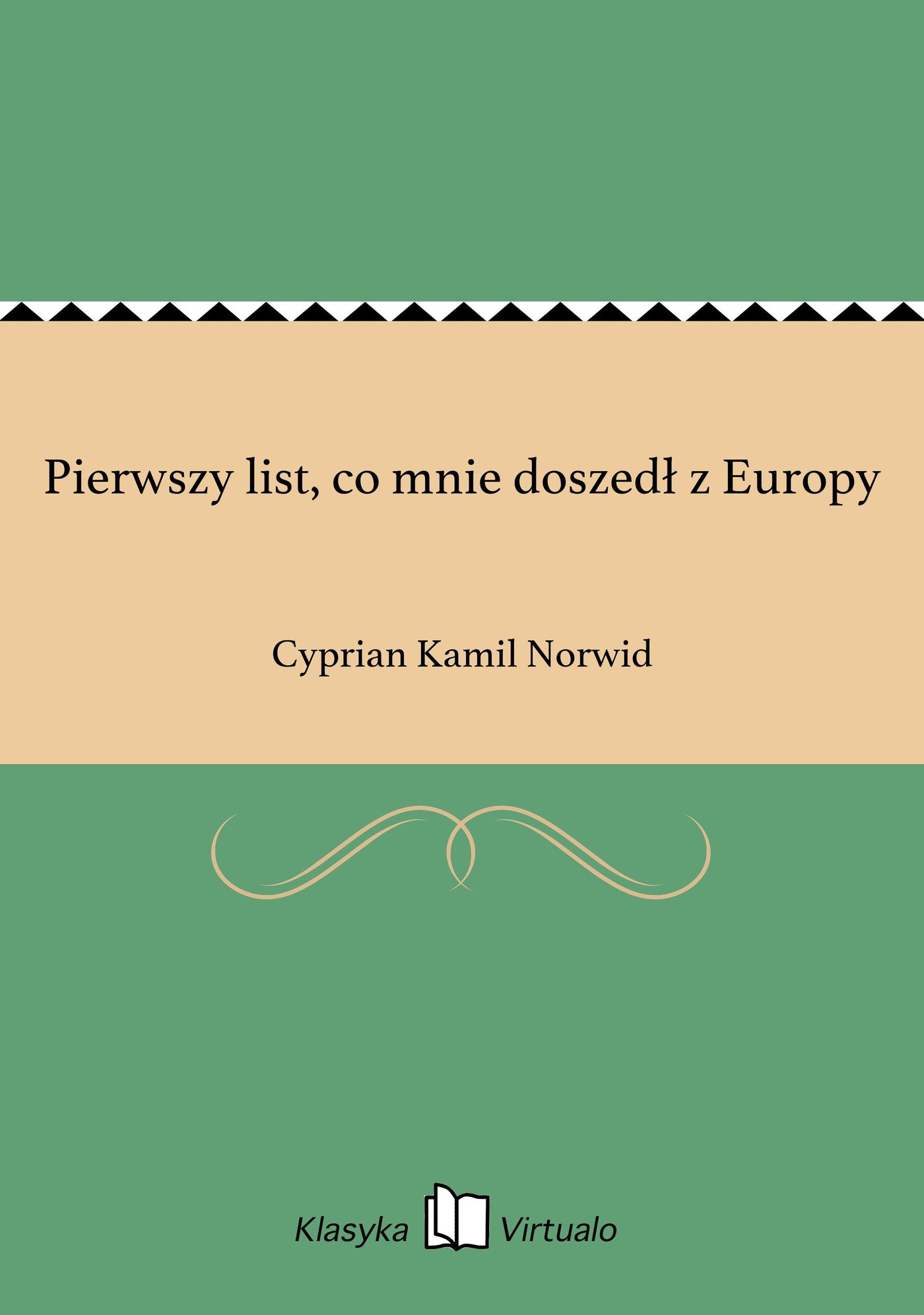 Pierwszy list, co mnie doszedł z Europy - Ebook (Książka EPUB) do pobrania w formacie EPUB