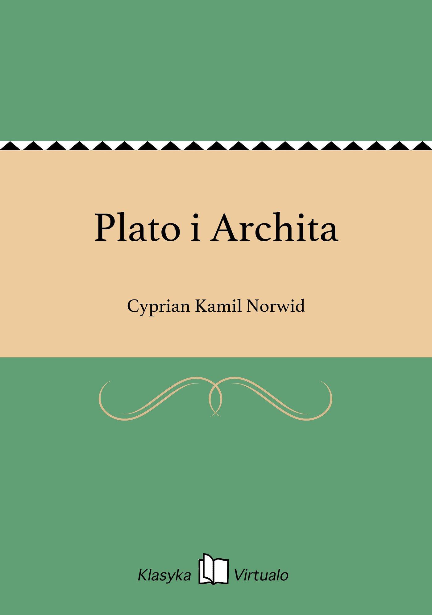 Plato i Archita - Ebook (Książka EPUB) do pobrania w formacie EPUB