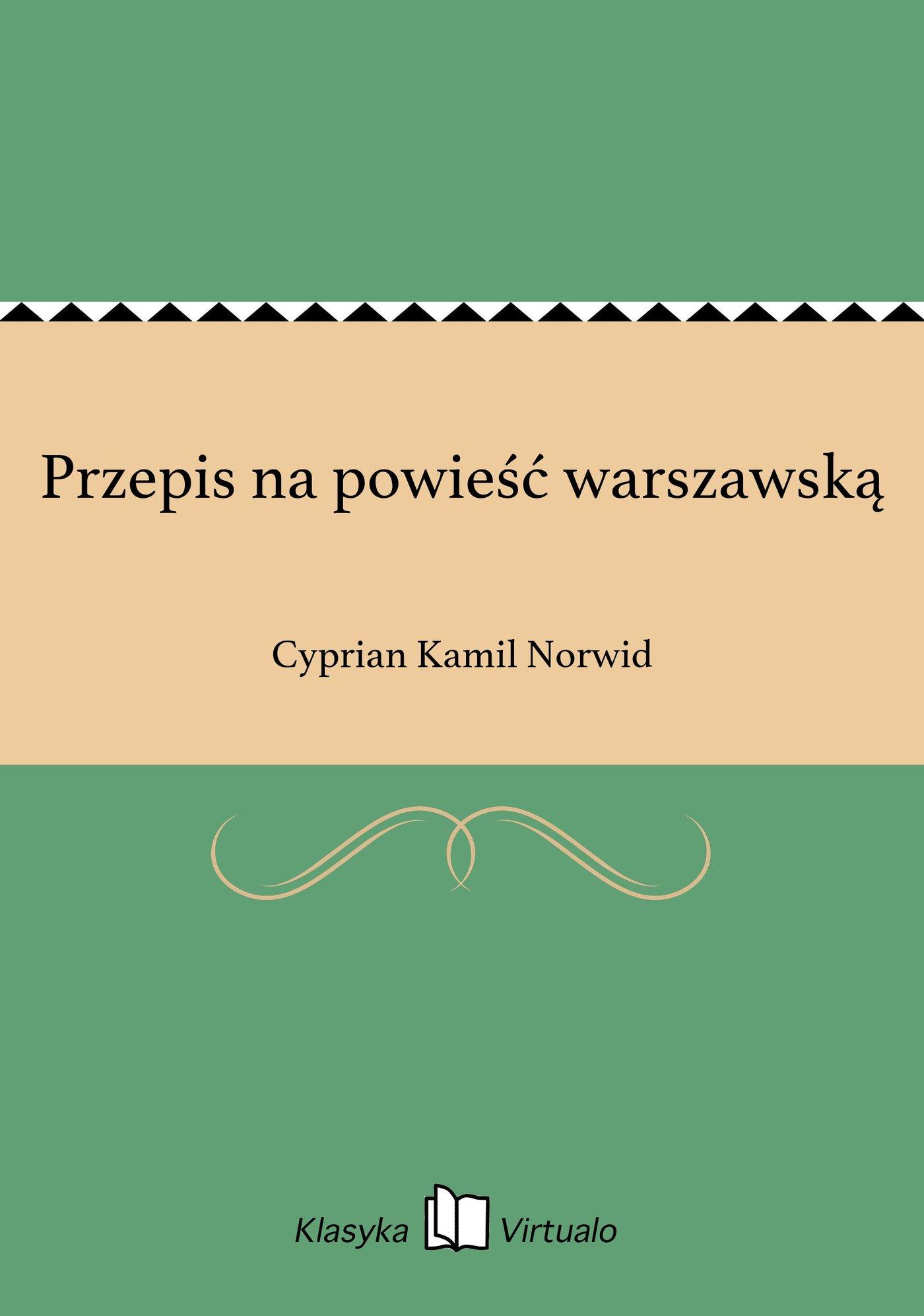 Przepis na powieść warszawską - Ebook (Książka EPUB) do pobrania w formacie EPUB