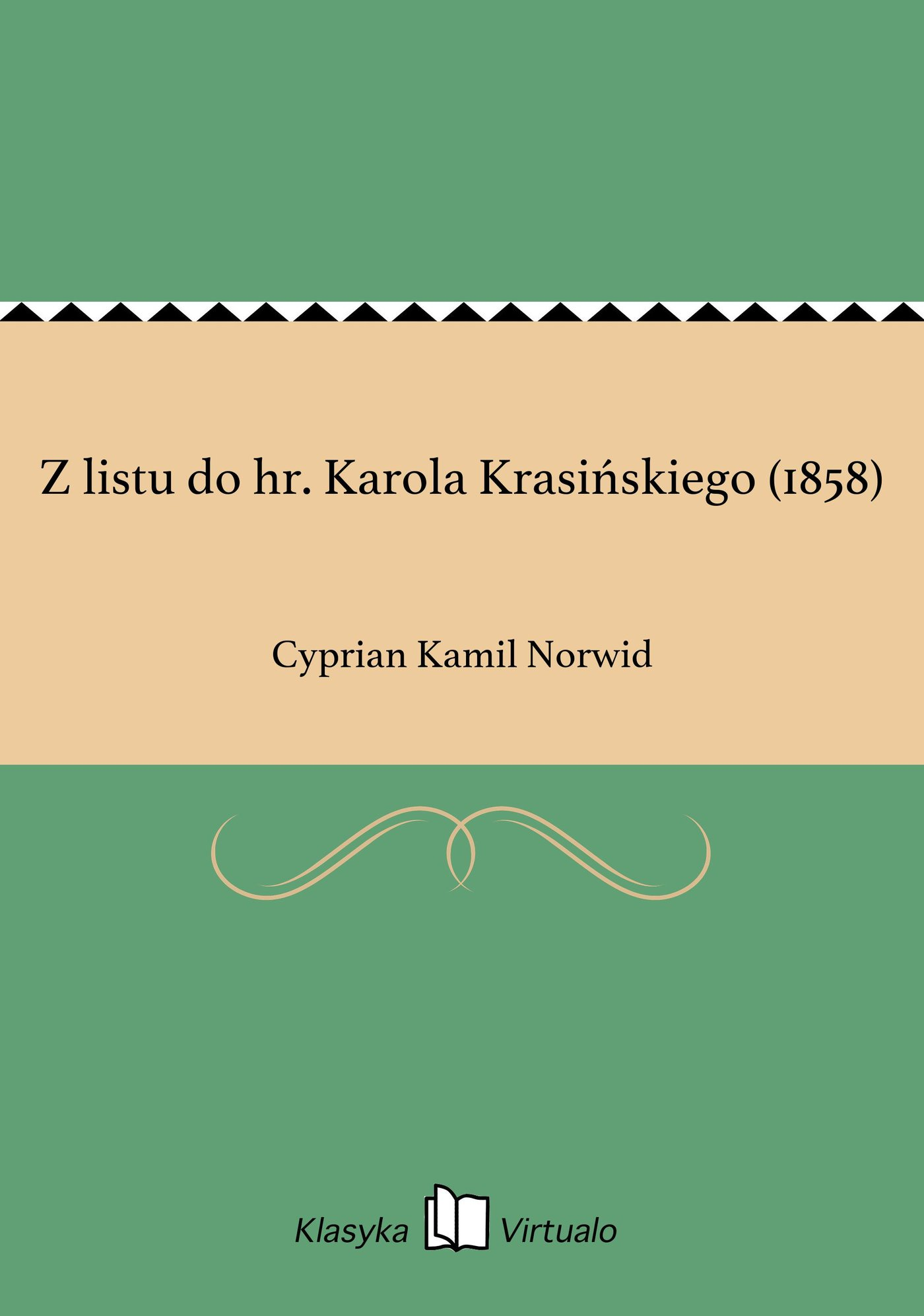 Z listu do hr. Karola Krasińskiego (1858) - Ebook (Książka EPUB) do pobrania w formacie EPUB