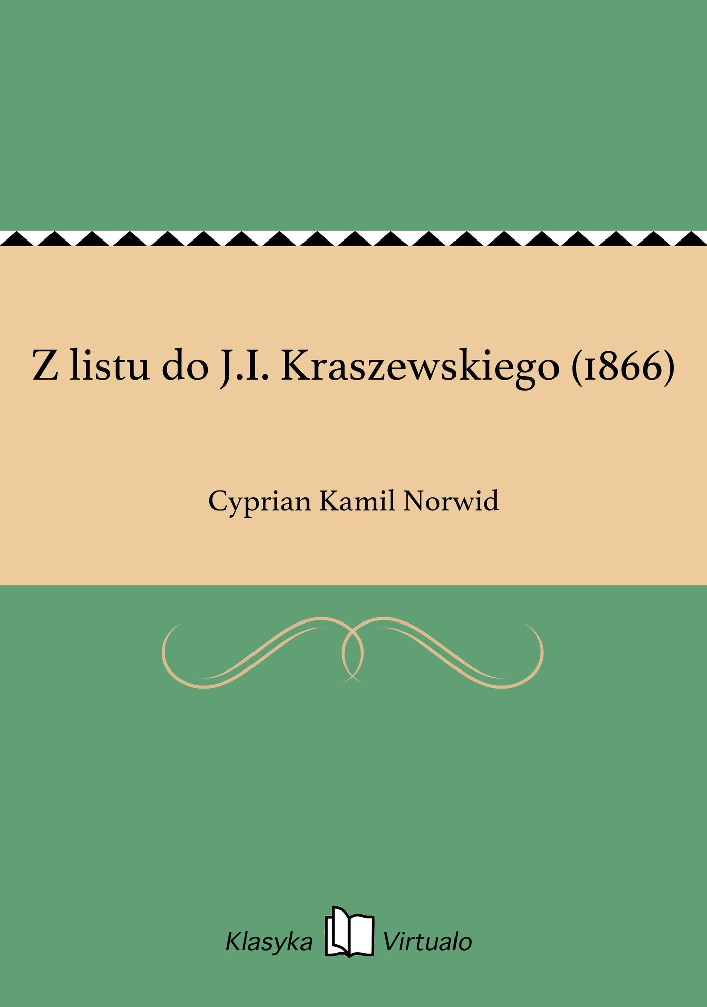Z listu do J.I. Kraszewskiego (1866) - Ebook (Książka EPUB) do pobrania w formacie EPUB
