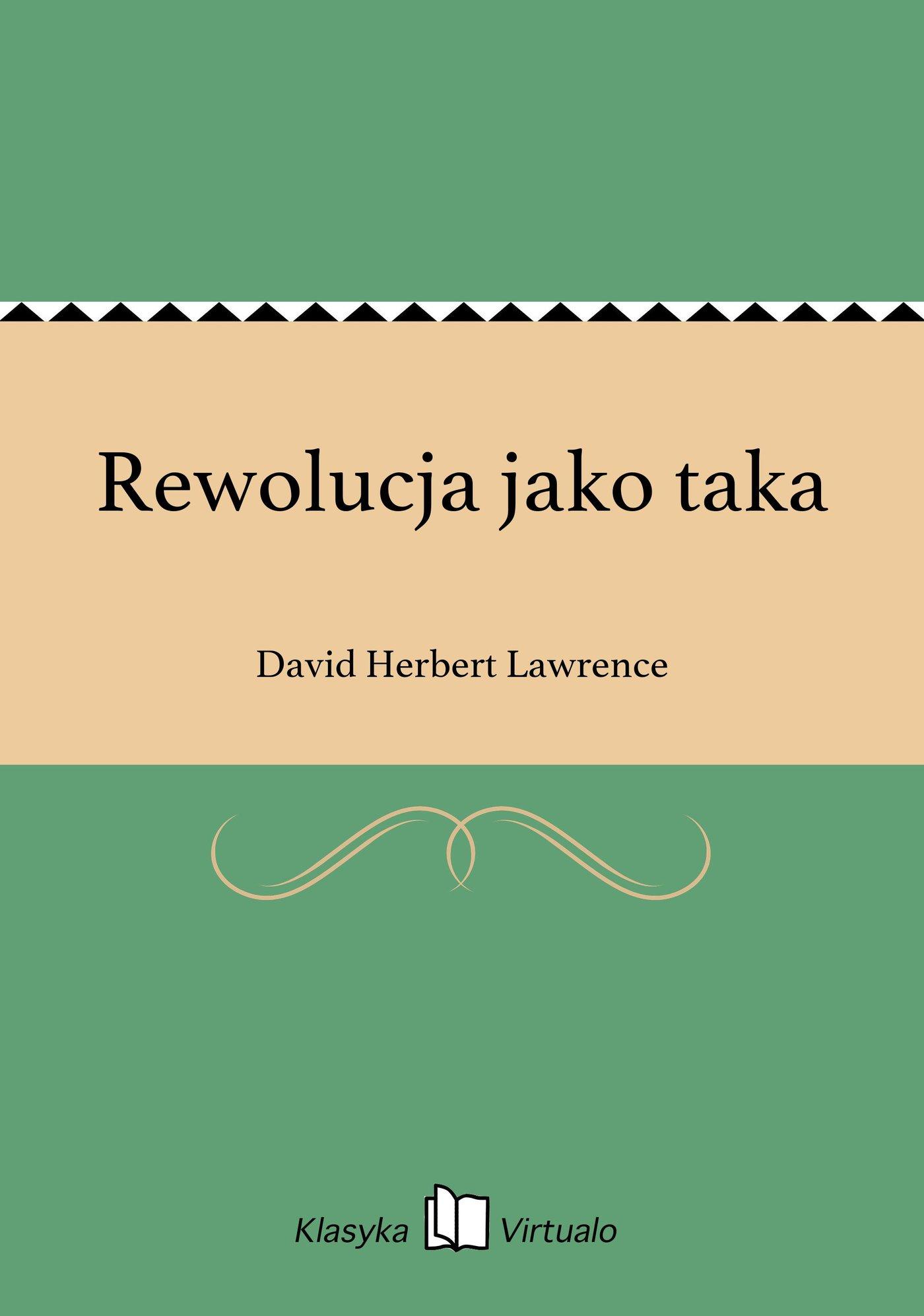Rewolucja jako taka - Ebook (Książka EPUB) do pobrania w formacie EPUB