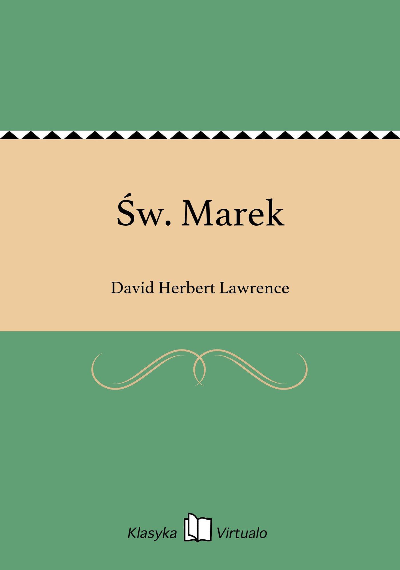 Św. Marek - Ebook (Książka EPUB) do pobrania w formacie EPUB