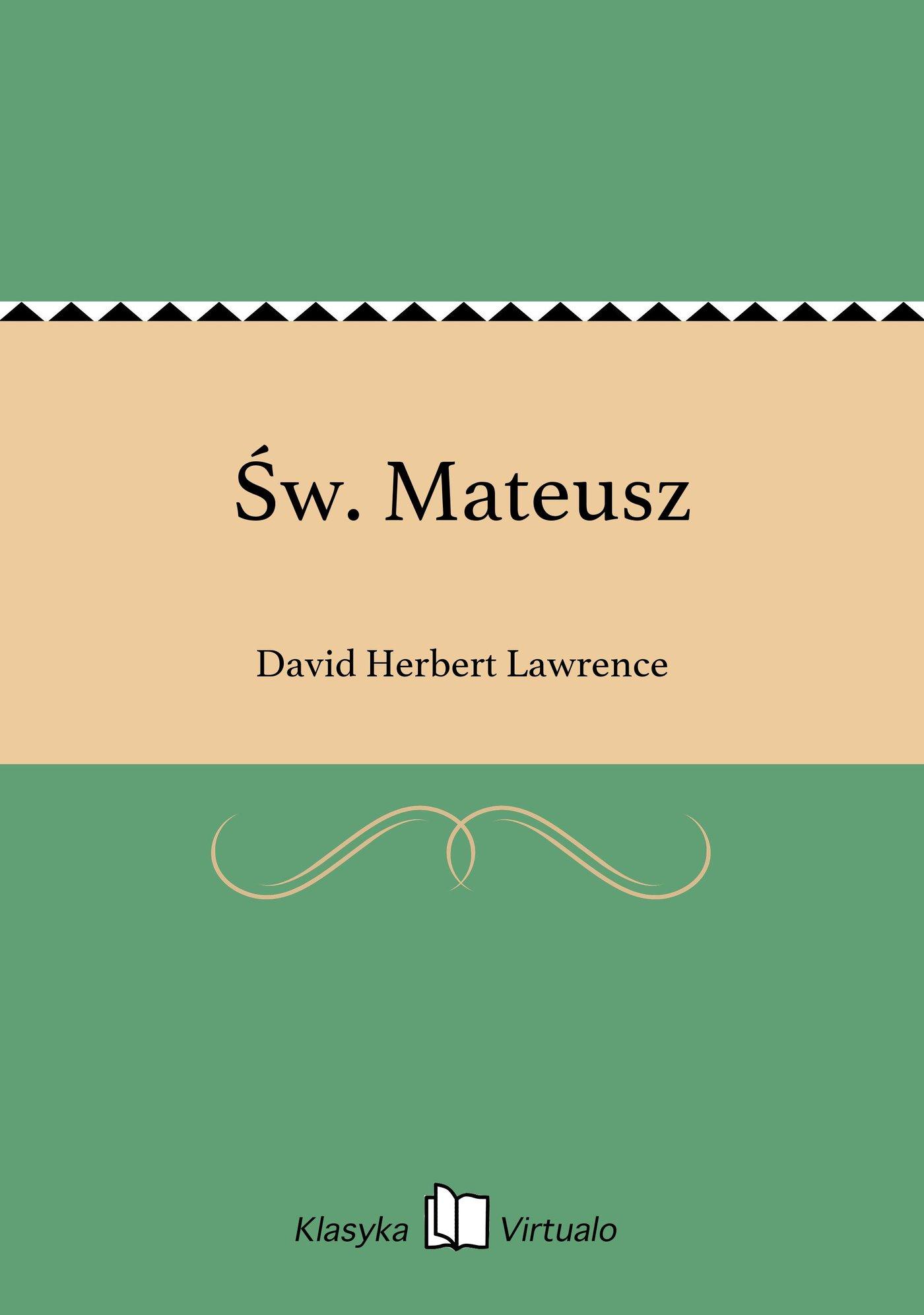 Św. Mateusz - Ebook (Książka EPUB) do pobrania w formacie EPUB