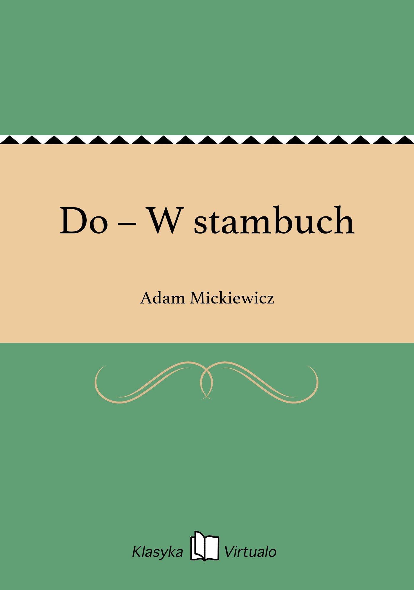 Do – W stambuch - Ebook (Książka EPUB) do pobrania w formacie EPUB