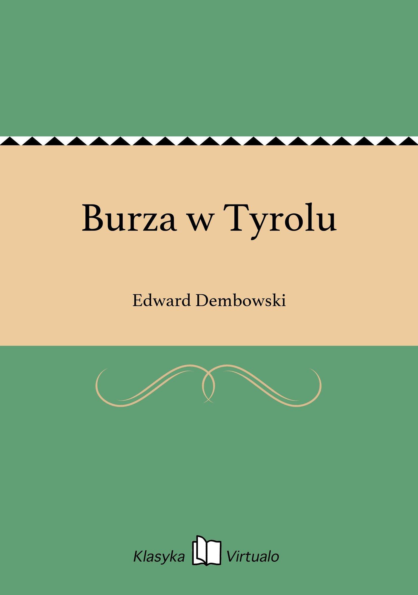 Burza w Tyrolu - Ebook (Książka EPUB) do pobrania w formacie EPUB