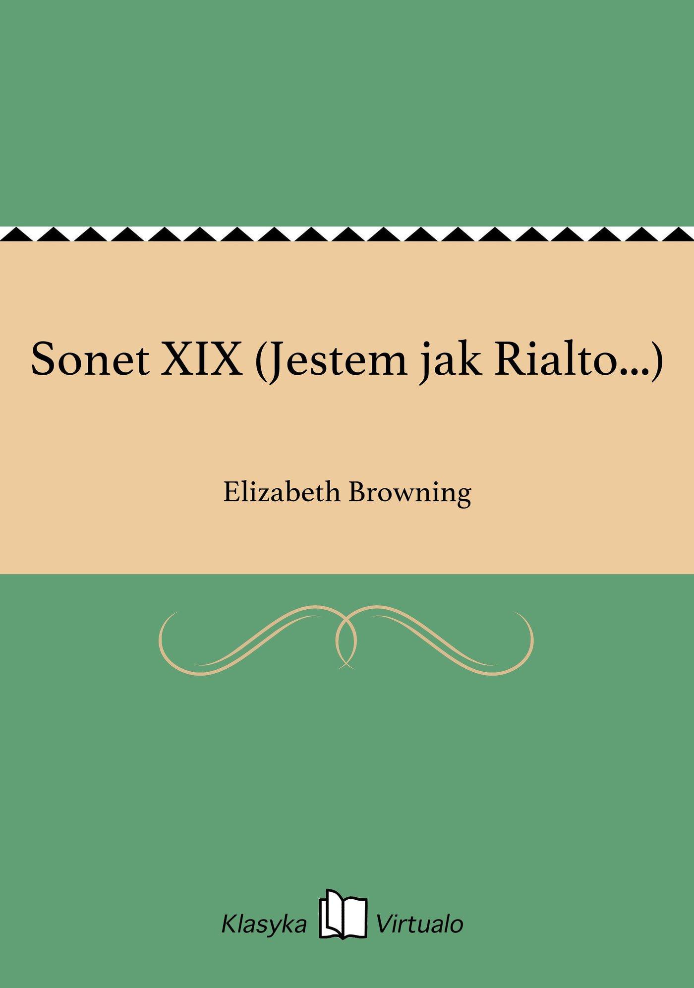 Sonet XIX (Jestem jak Rialto...) - Ebook (Książka EPUB) do pobrania w formacie EPUB