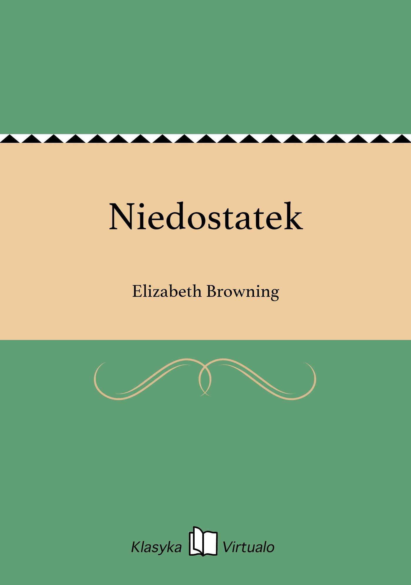 Niedostatek - Ebook (Książka EPUB) do pobrania w formacie EPUB