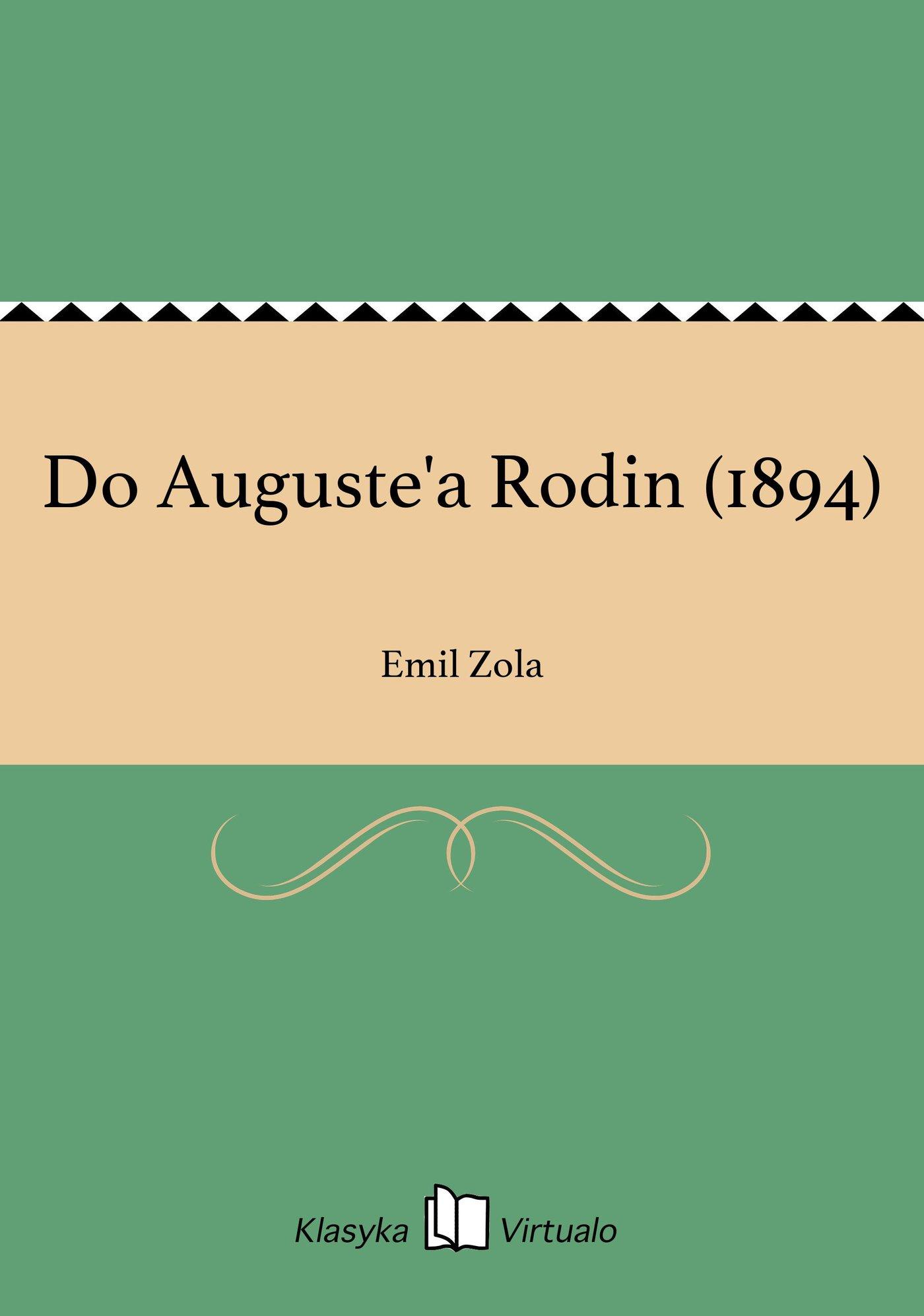 Do Auguste'a Rodin (1894) - Ebook (Książka EPUB) do pobrania w formacie EPUB