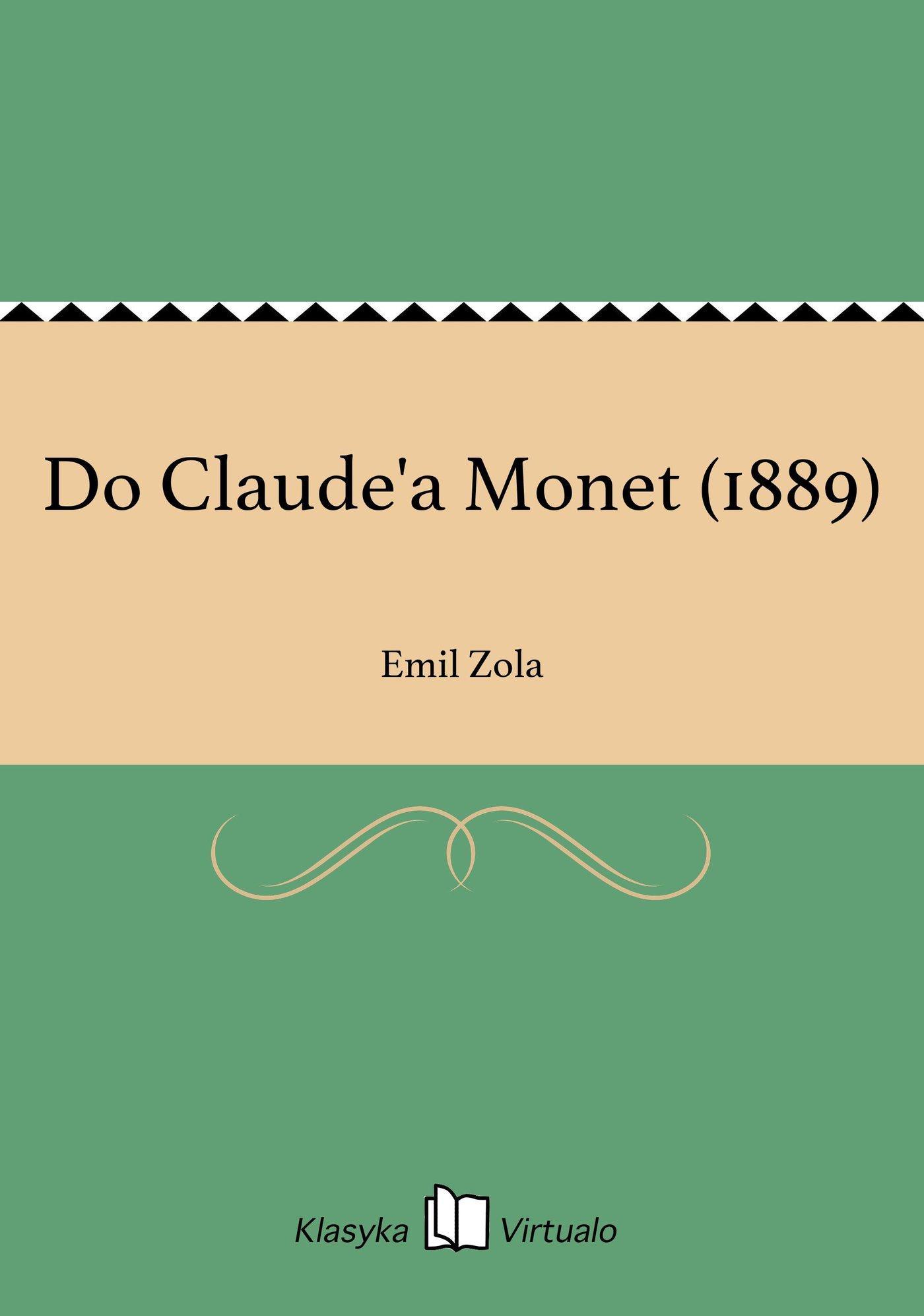 Do Claude'a Monet (1889) - Ebook (Książka EPUB) do pobrania w formacie EPUB