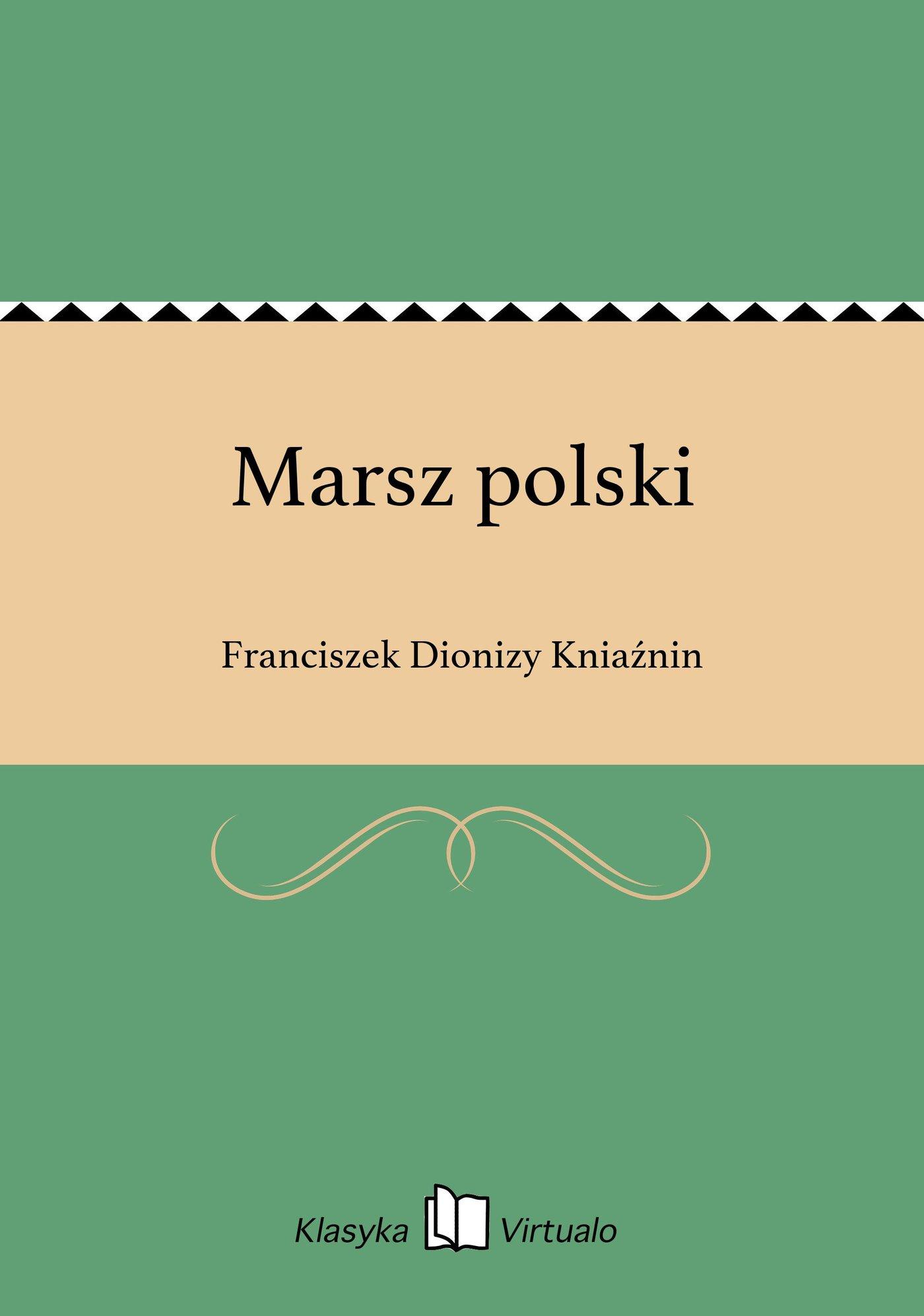 Marsz polski - Ebook (Książka EPUB) do pobrania w formacie EPUB