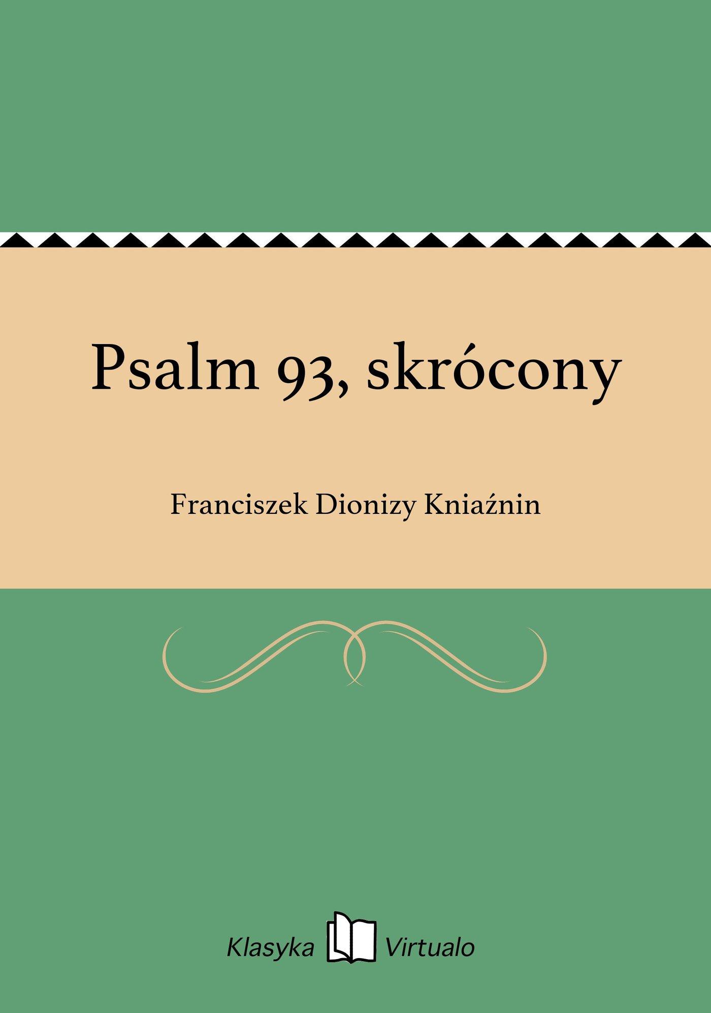 Psalm 93, skrócony - Ebook (Książka EPUB) do pobrania w formacie EPUB