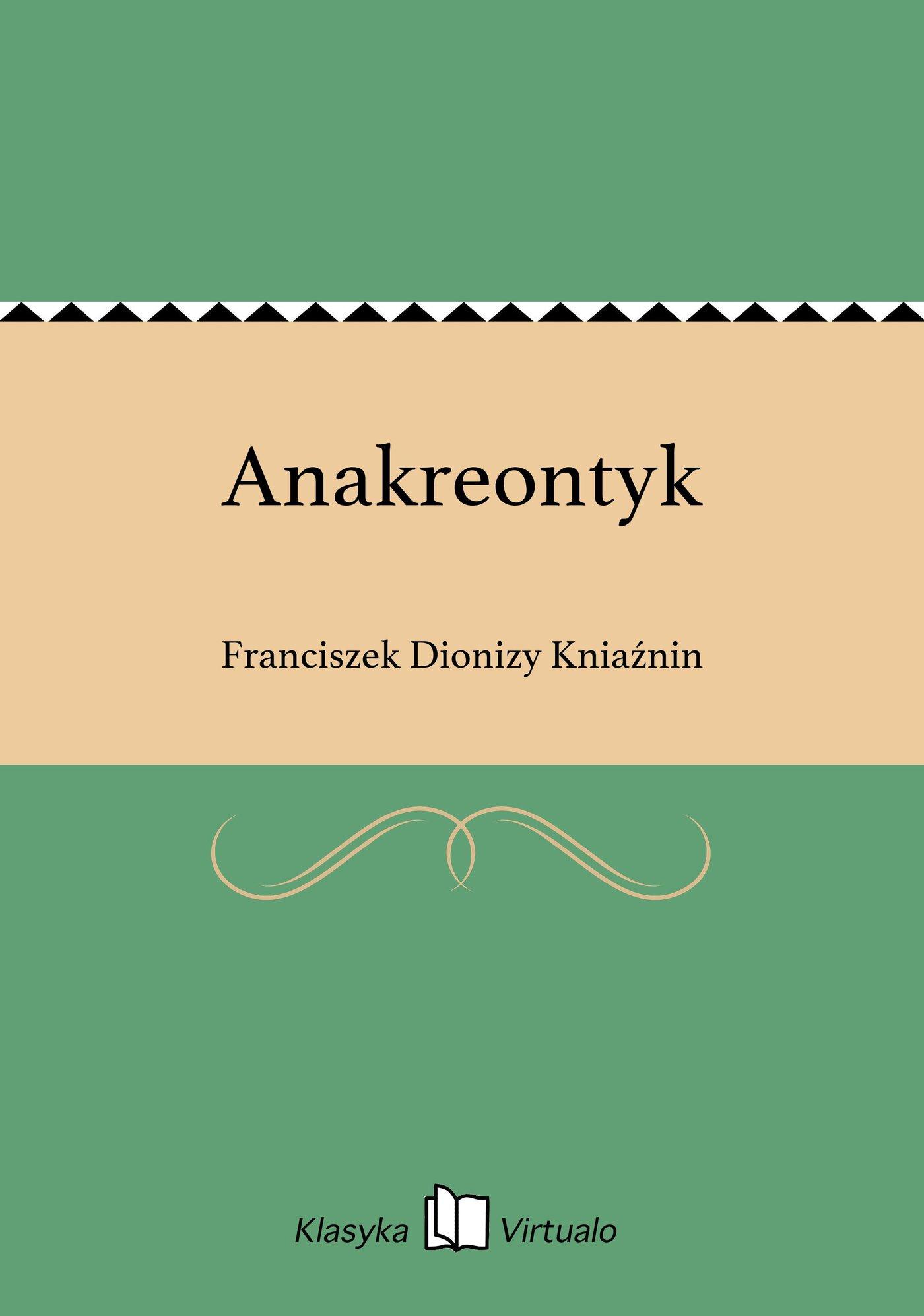 Anakreontyk - Ebook (Książka EPUB) do pobrania w formacie EPUB