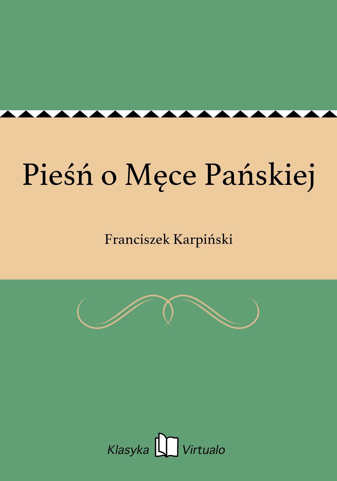 Pieśń o Męce Pańskiej - Ebook (Książka EPUB) do pobrania w formacie EPUB