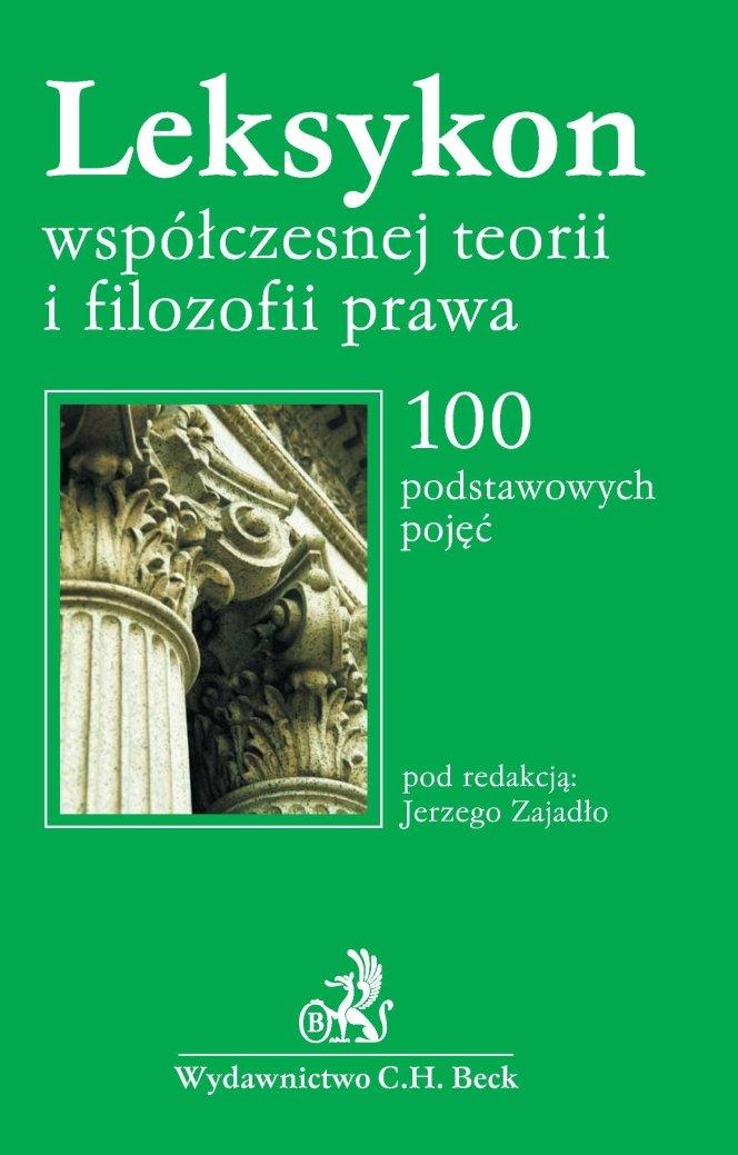 Leksykon współczesnej filozofii prawa - Ebook (Książka PDF) do pobrania w formacie PDF