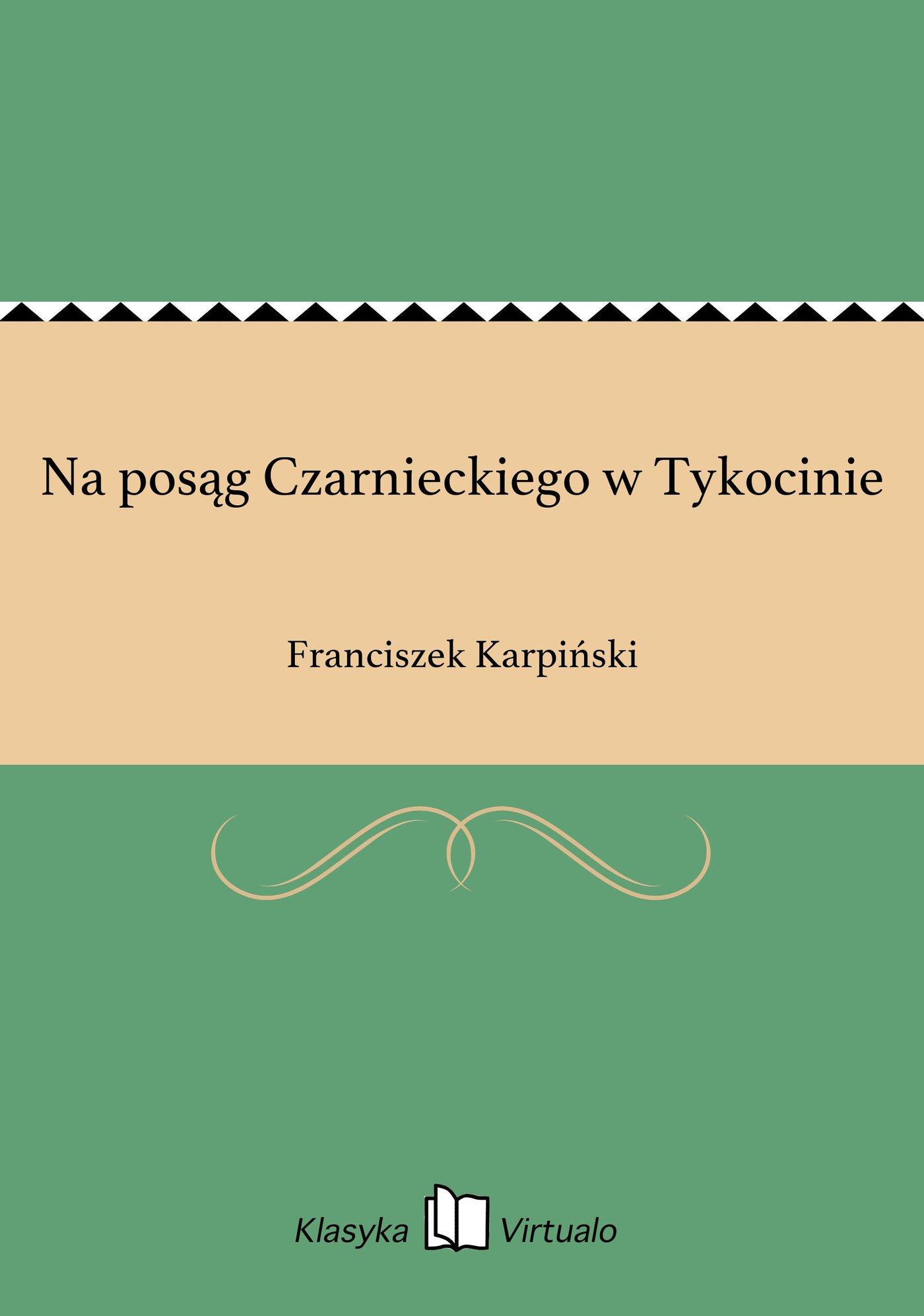 Na posąg Czarnieckiego w Tykocinie - Ebook (Książka EPUB) do pobrania w formacie EPUB